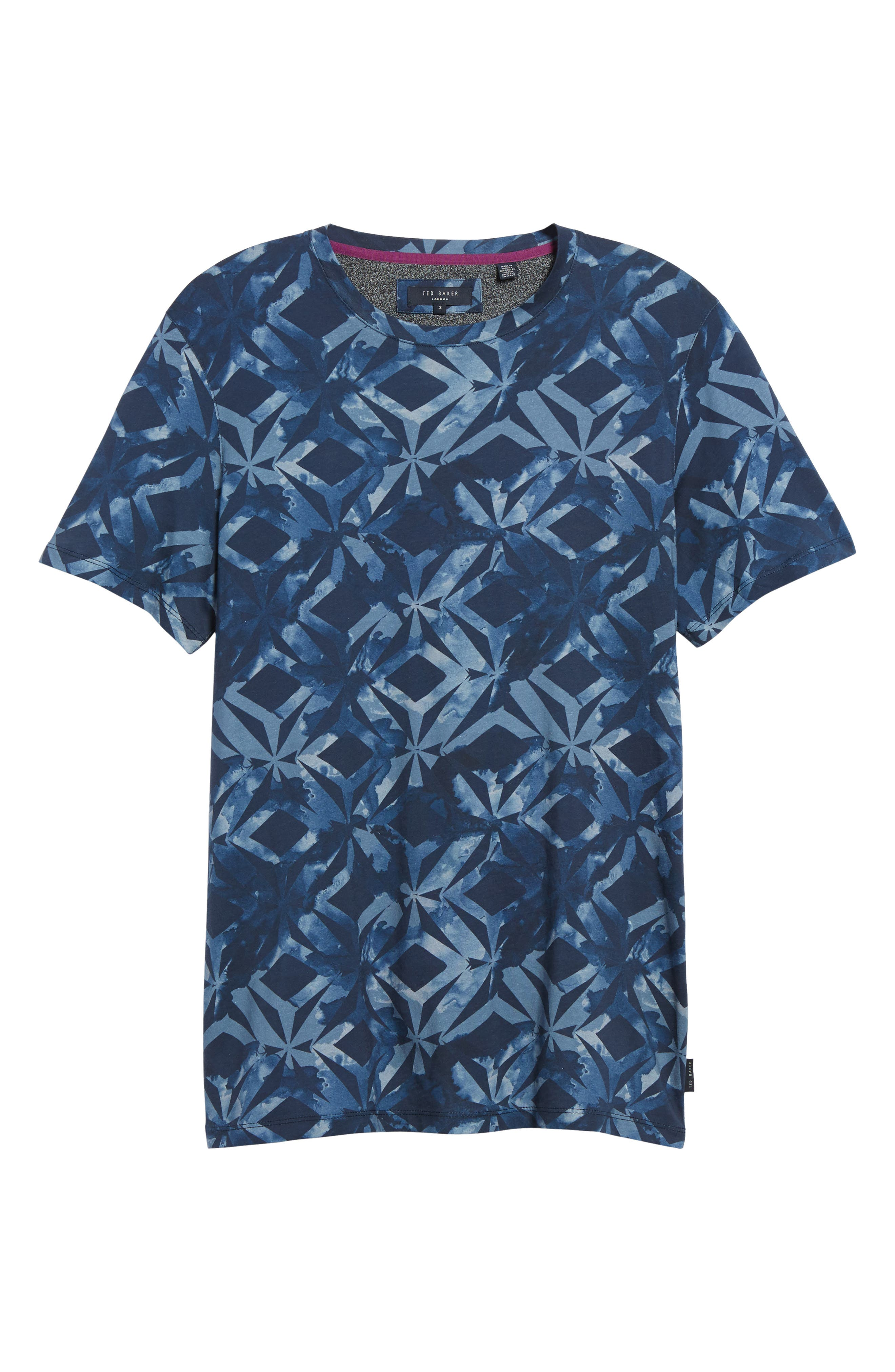 Woof Batik Print T-Shirt,                             Alternate thumbnail 6, color,                             Dark Blue