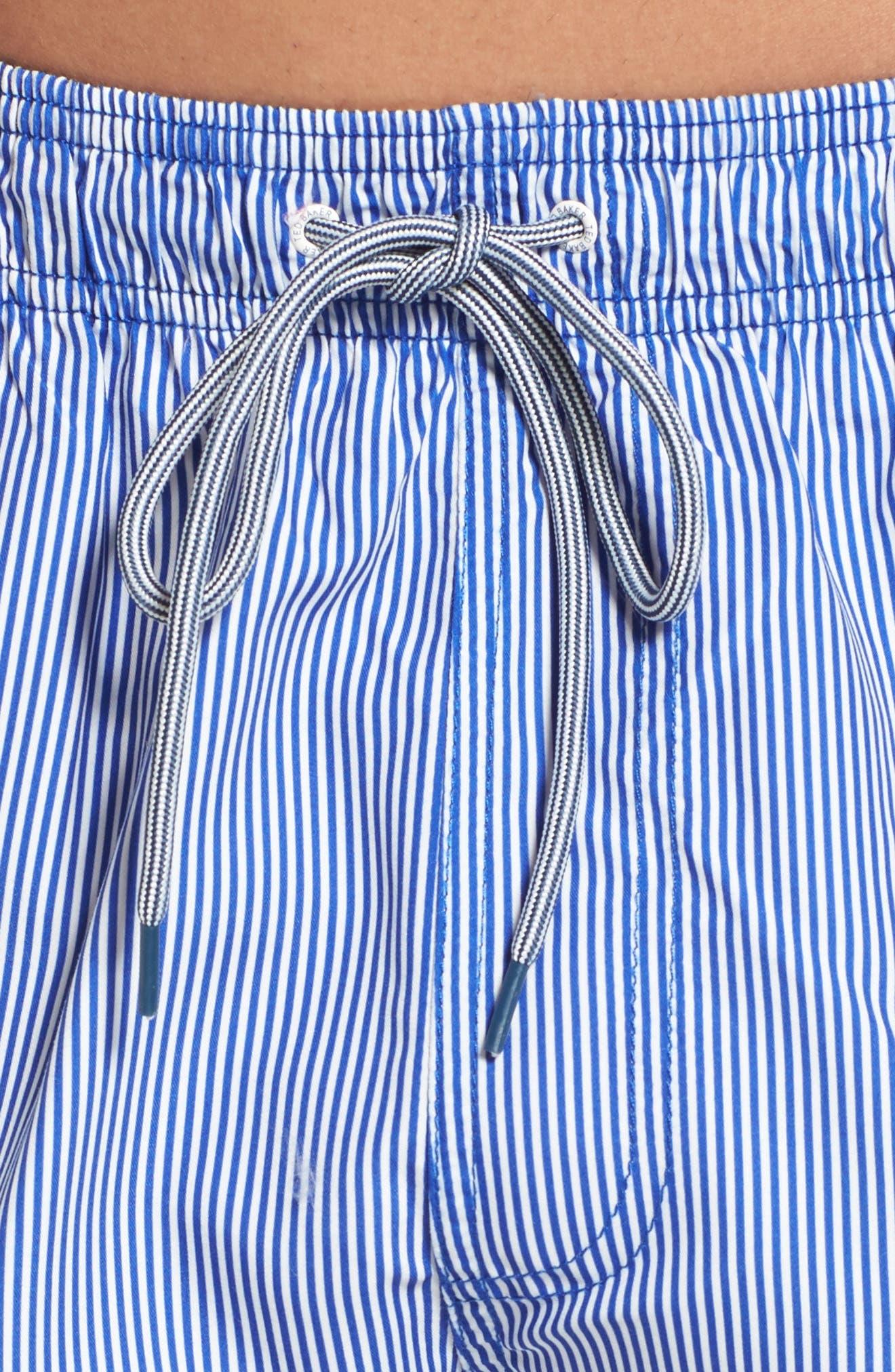 Alternate Image 4  - Ted Baker London One-Way Stripe Swim Trunks