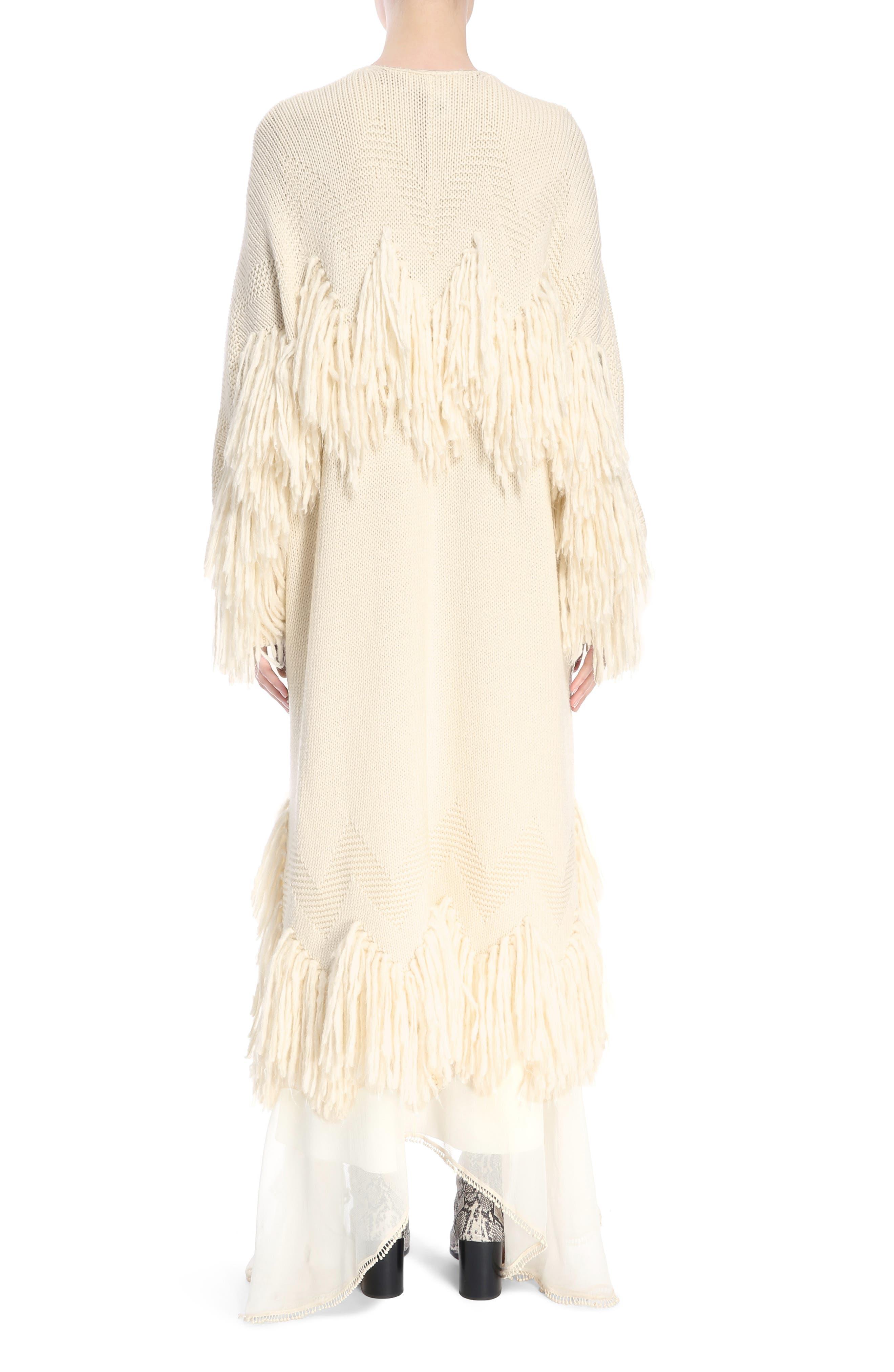 Alternate Image 2  - Chloé Shaggy Fringe Wool Cardigan