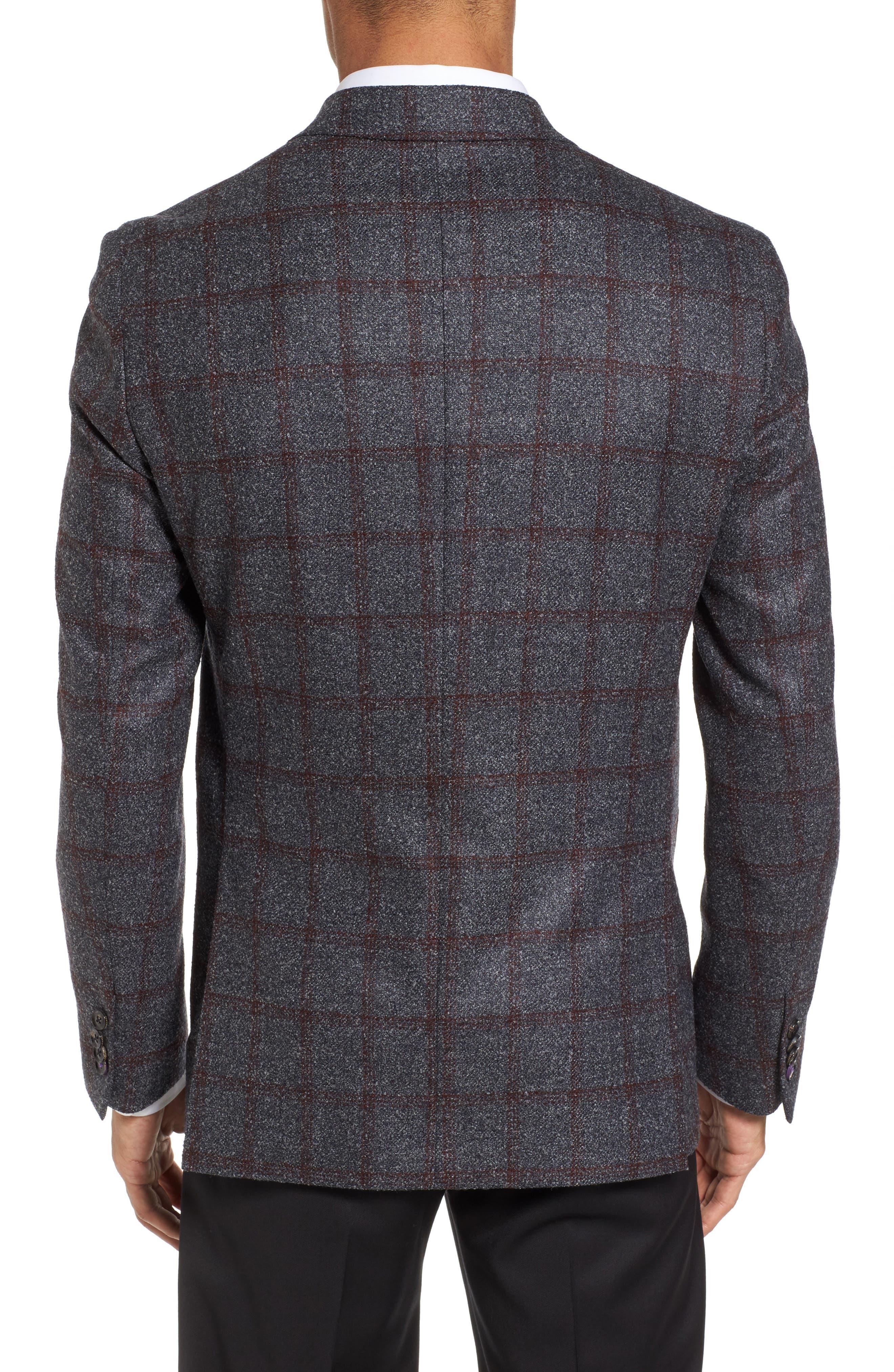 Alternate Image 2  - Ted Baker London Kyle Trim Fit Windowpane Wool Blend Sport Coat