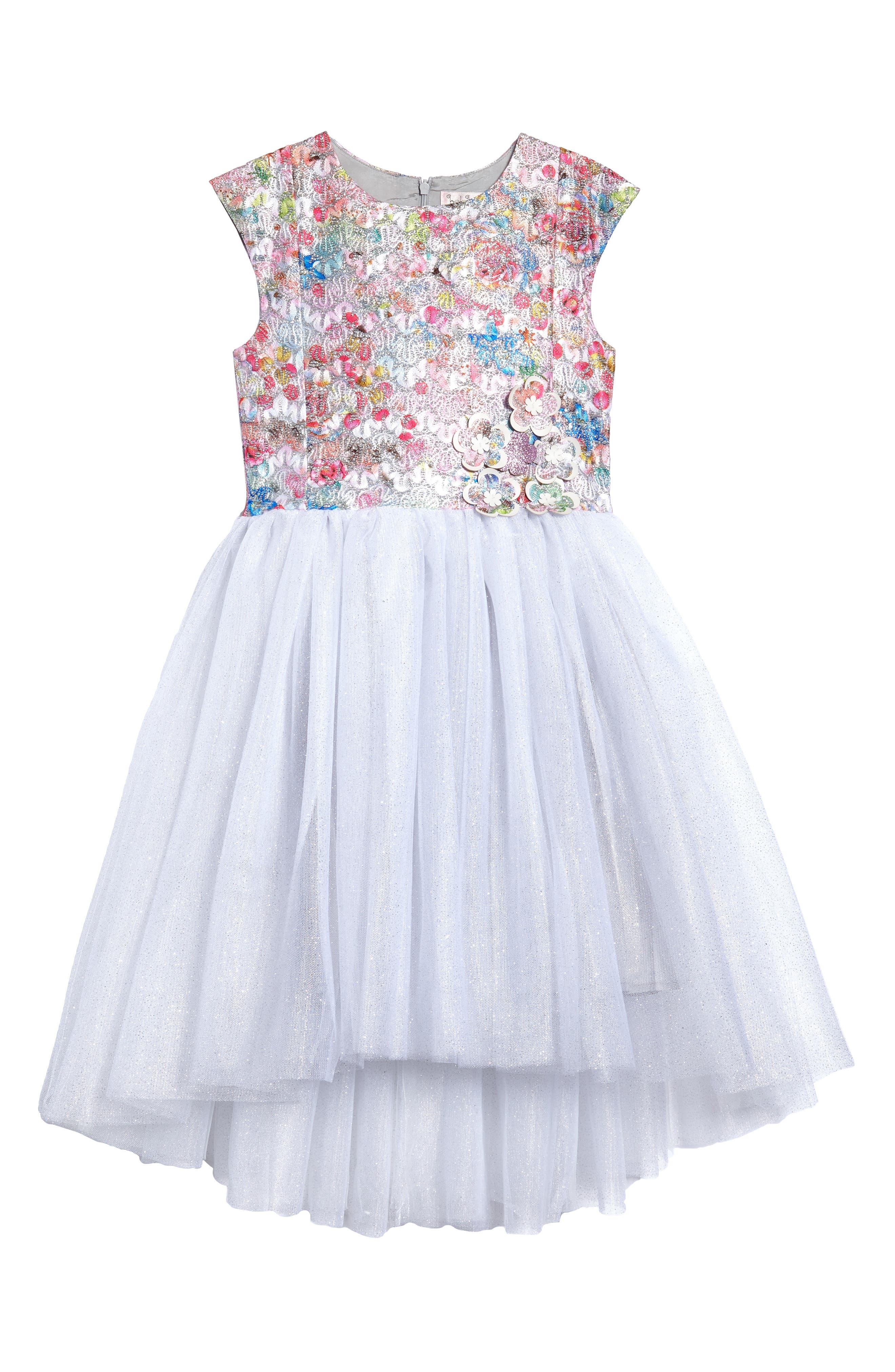 Halabaloo Brocade Bodice Dress (Toddler Girls, Little Girls & Big Girls)