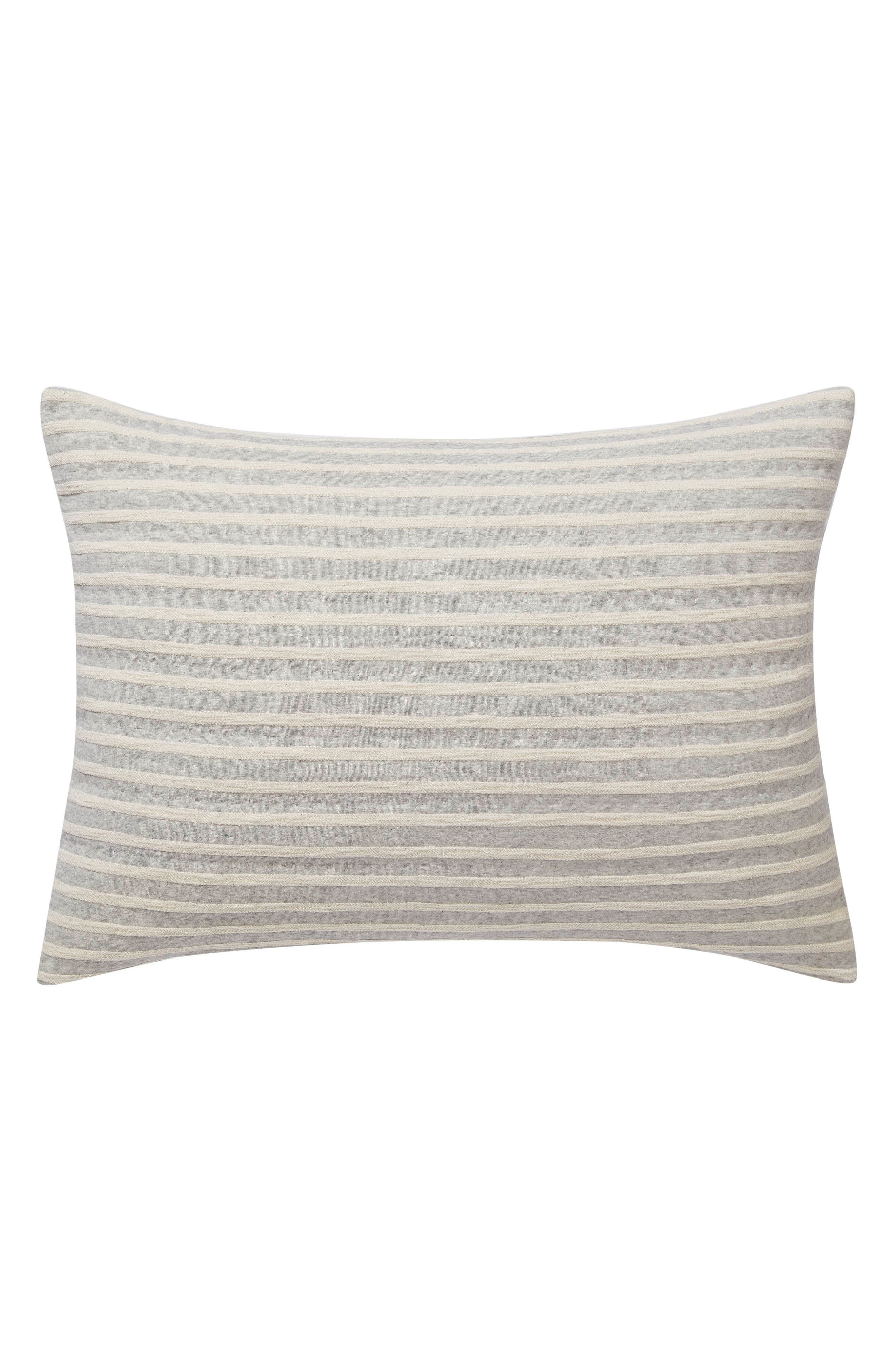 Horizontal Lines Sham,                         Main,                         color, Grey