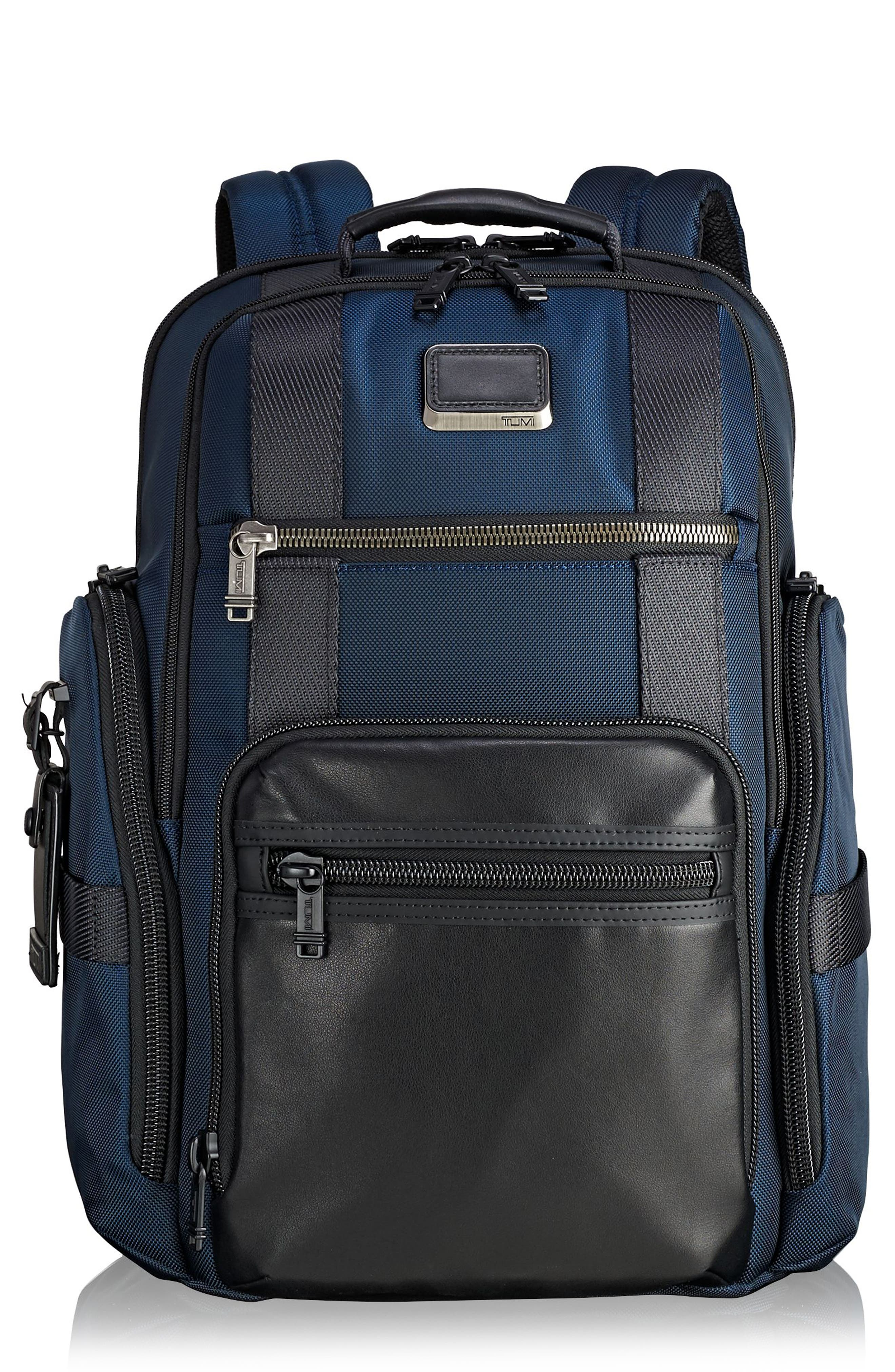 Alpha Bravo - Sheppard Deluxe Backpack,                         Main,                         color, Navy
