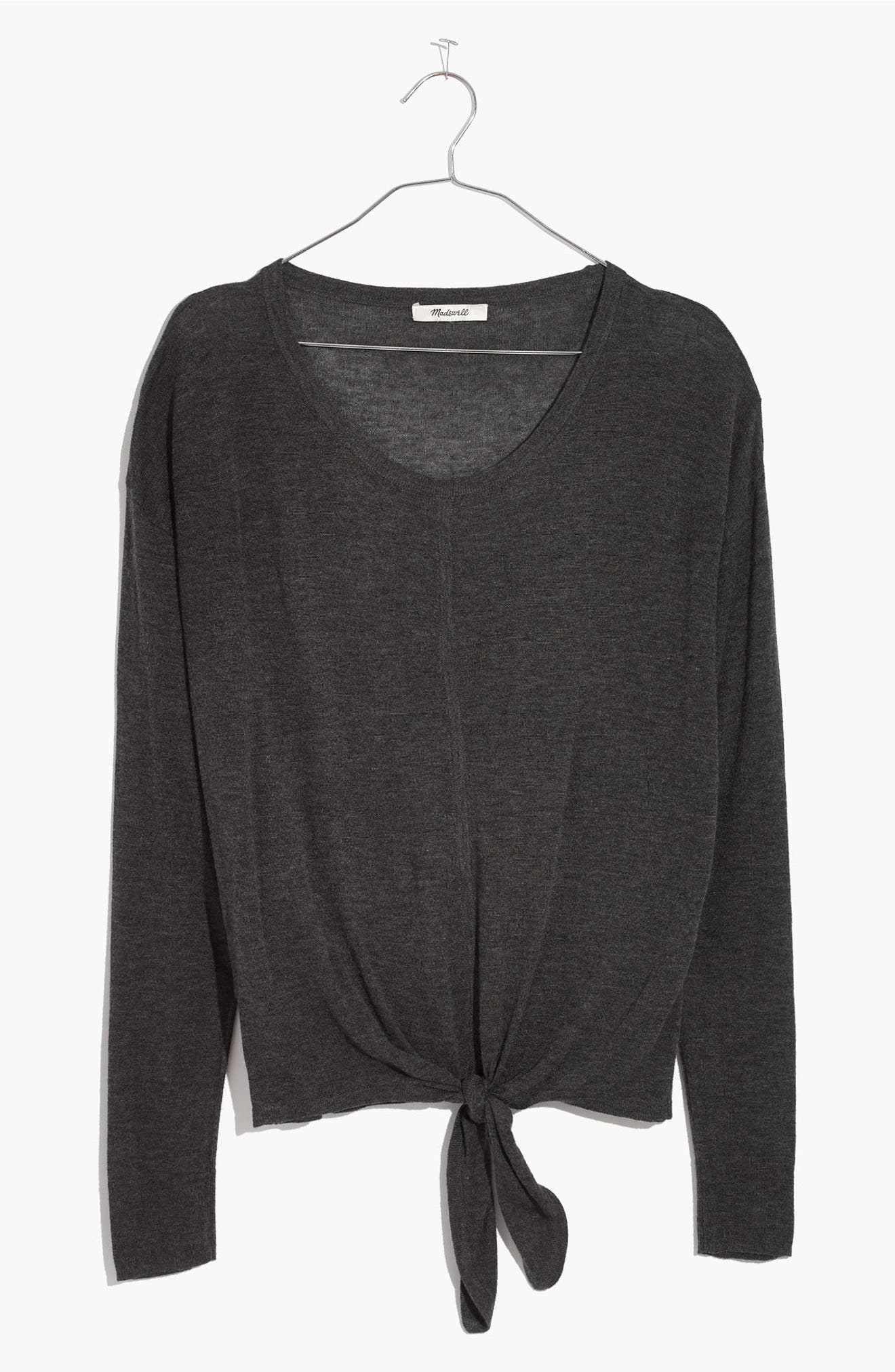 Alternate Image 3  - Madewell Modern Tie Front Sweater