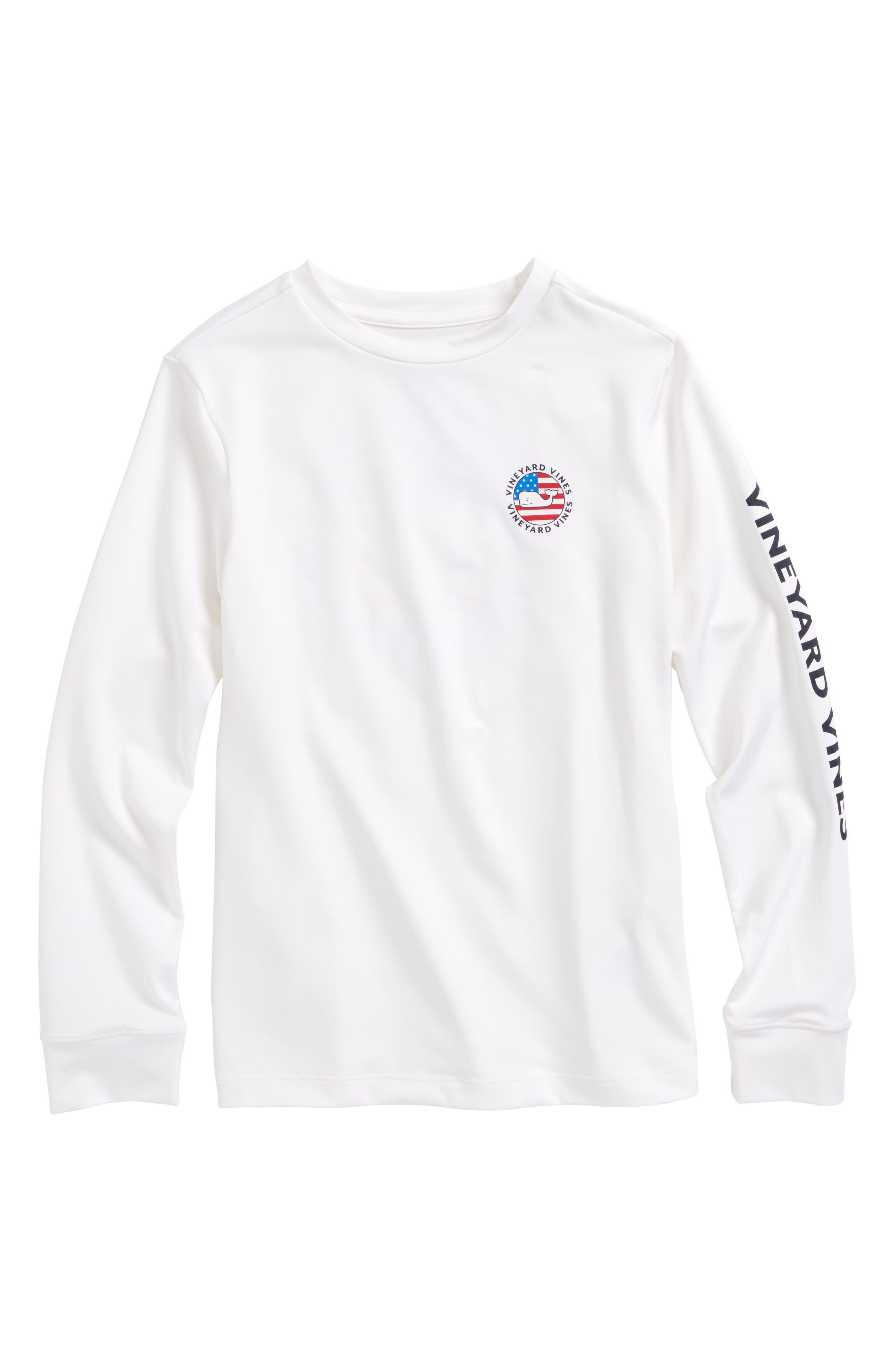 Performance Patriot Dot T-Shirt,                             Main thumbnail 1, color,                             White Cap