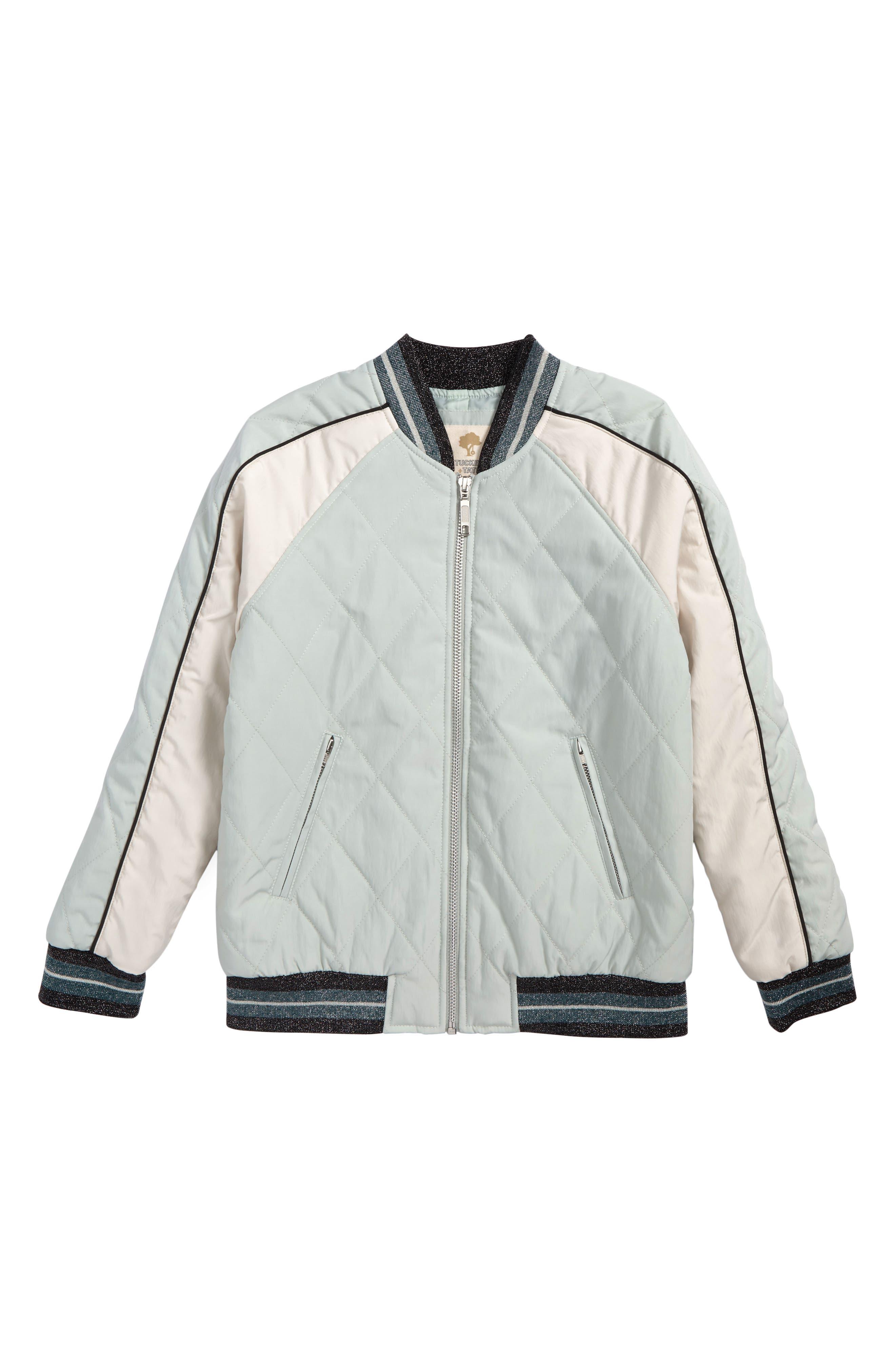 Alternate Image 1 Selected - Tucker + Tate Colorblock Bomber Jacket (Big Girls)