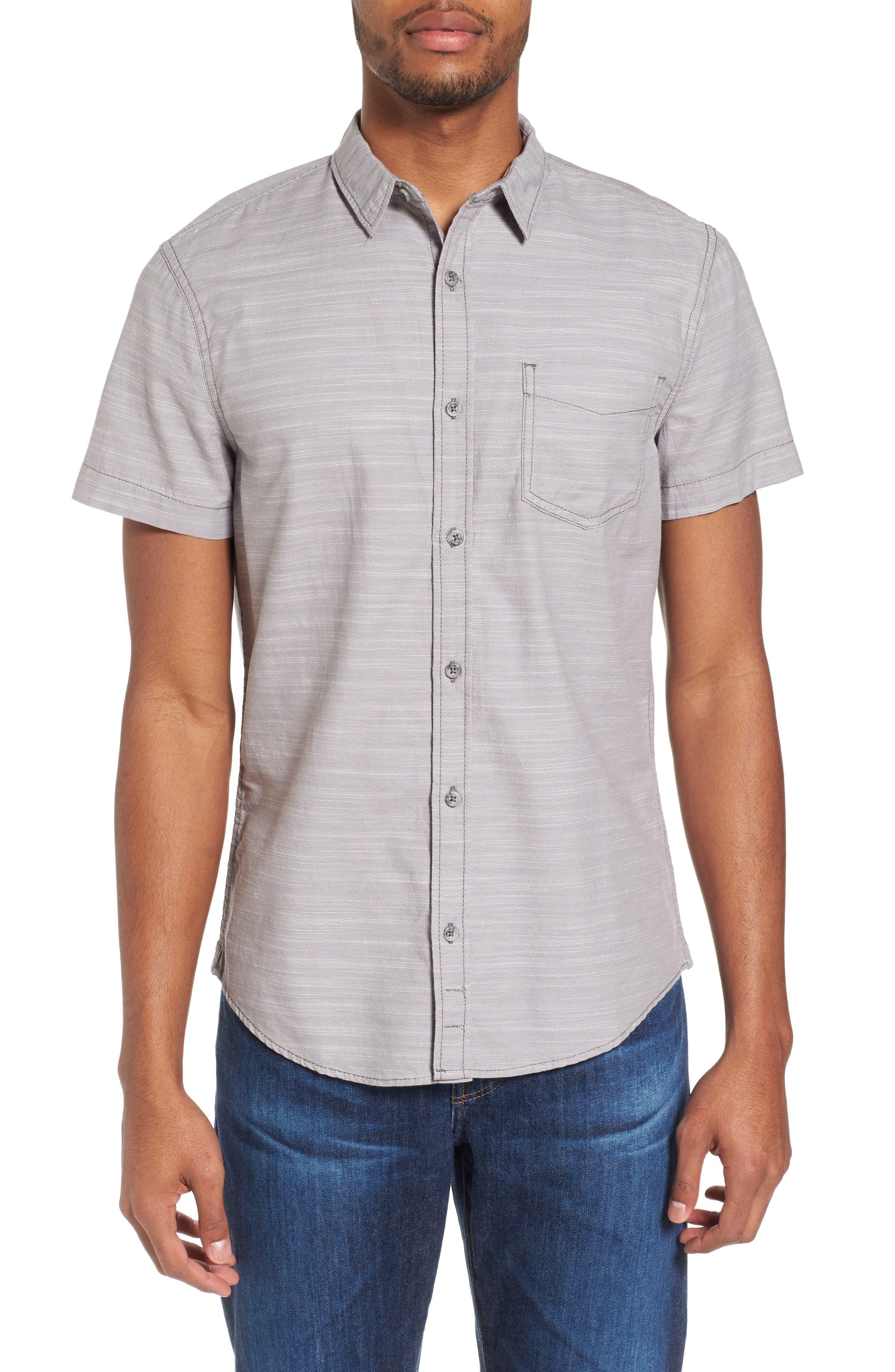 Herringbone Chambray Shirt,                         Main,                         color, Grey Filigree Herringbone