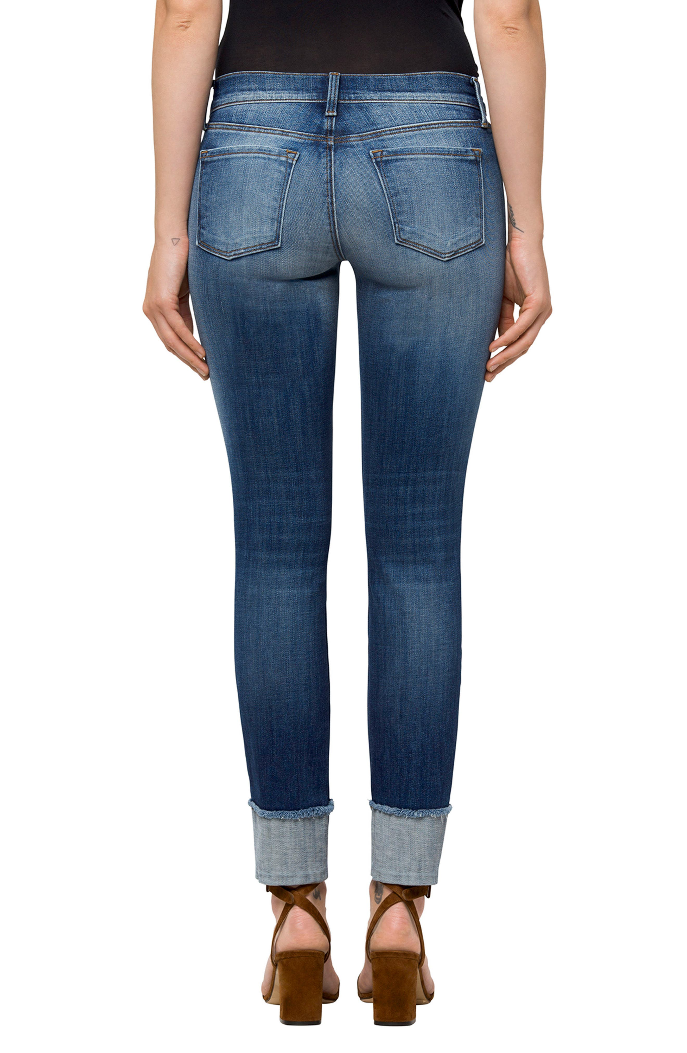 Hipster Low Rise Jeans,                             Alternate thumbnail 2, color,                             Jasper
