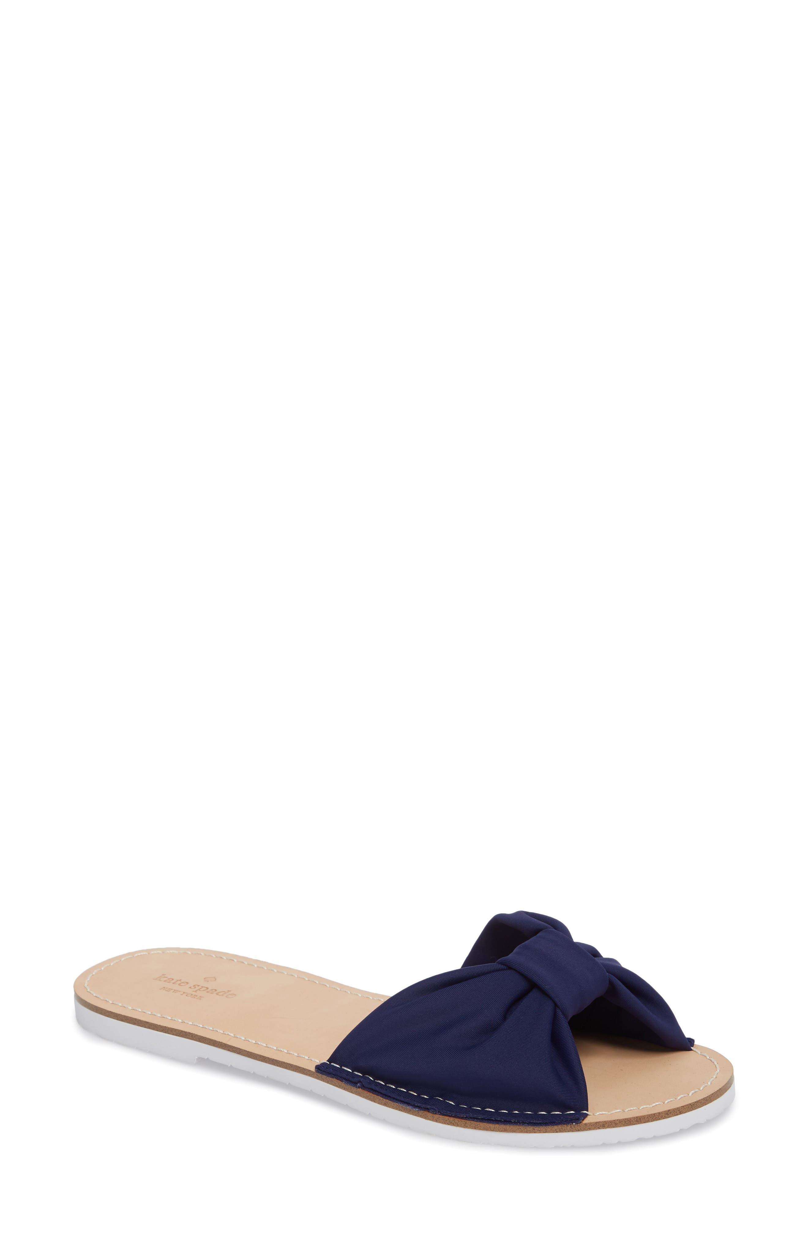 indi slide sandal,                             Main thumbnail 1, color,                             Blue
