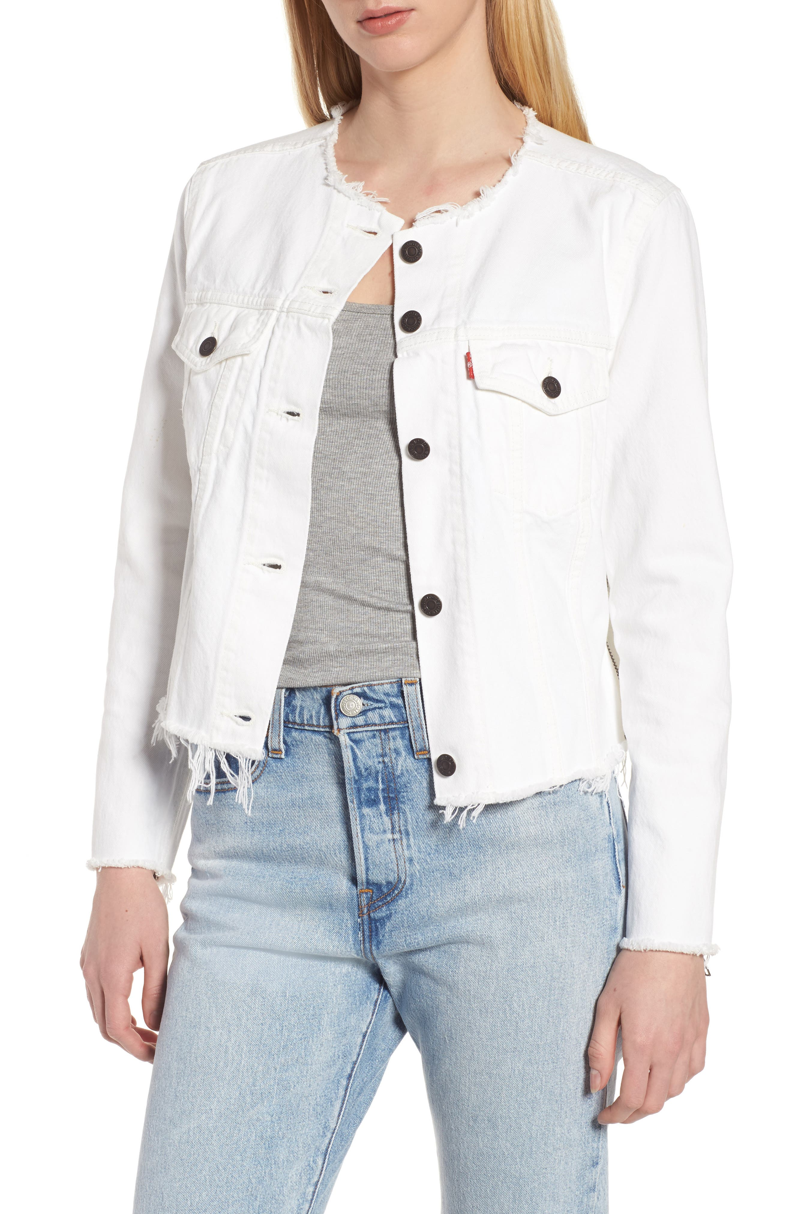 Levi's® Altered Zip Distressed Trucker Jacket