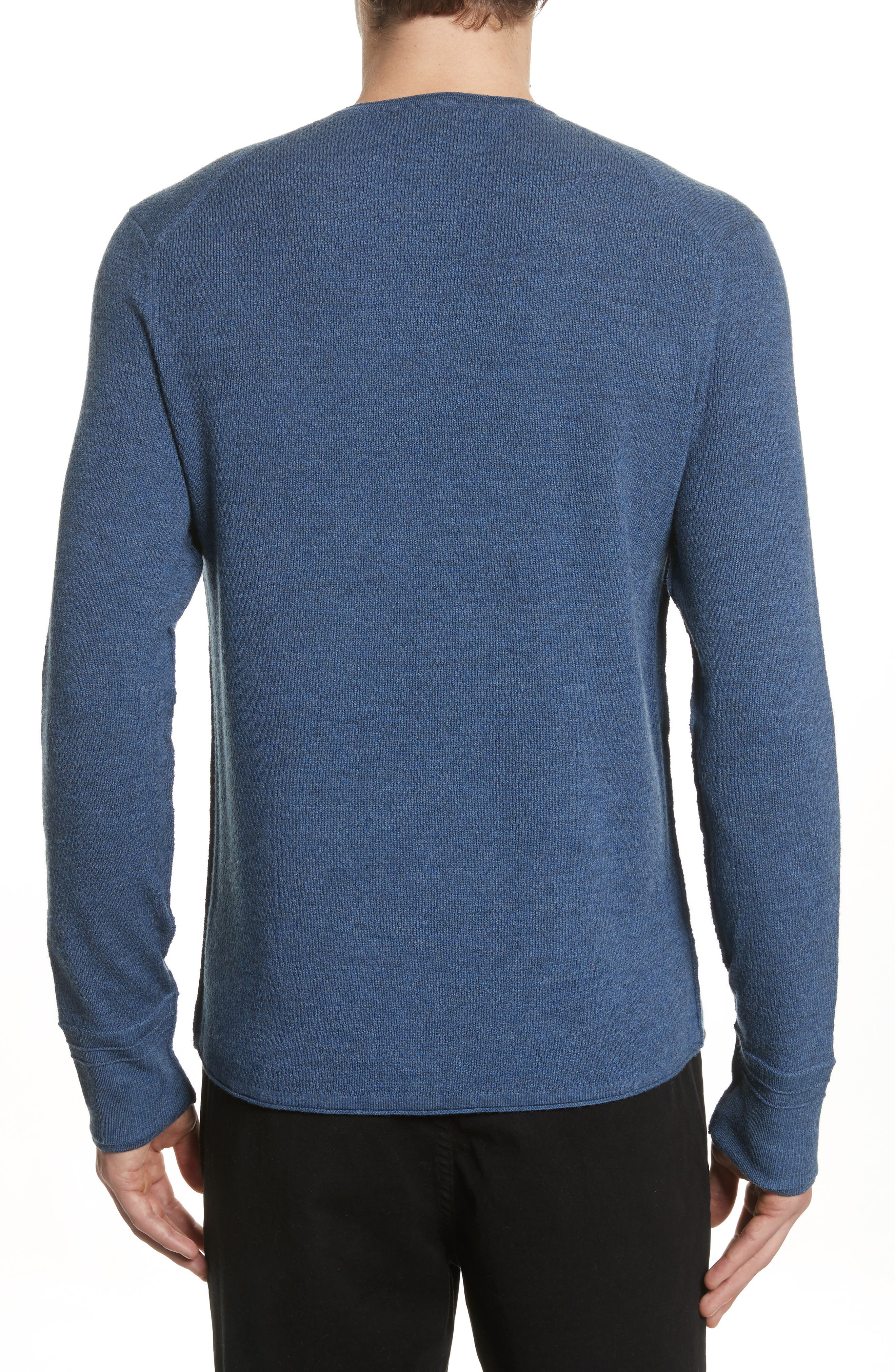 Gregory Merino Wool Blend Crewneck Sweater,                             Alternate thumbnail 2, color,                             Heather Blue