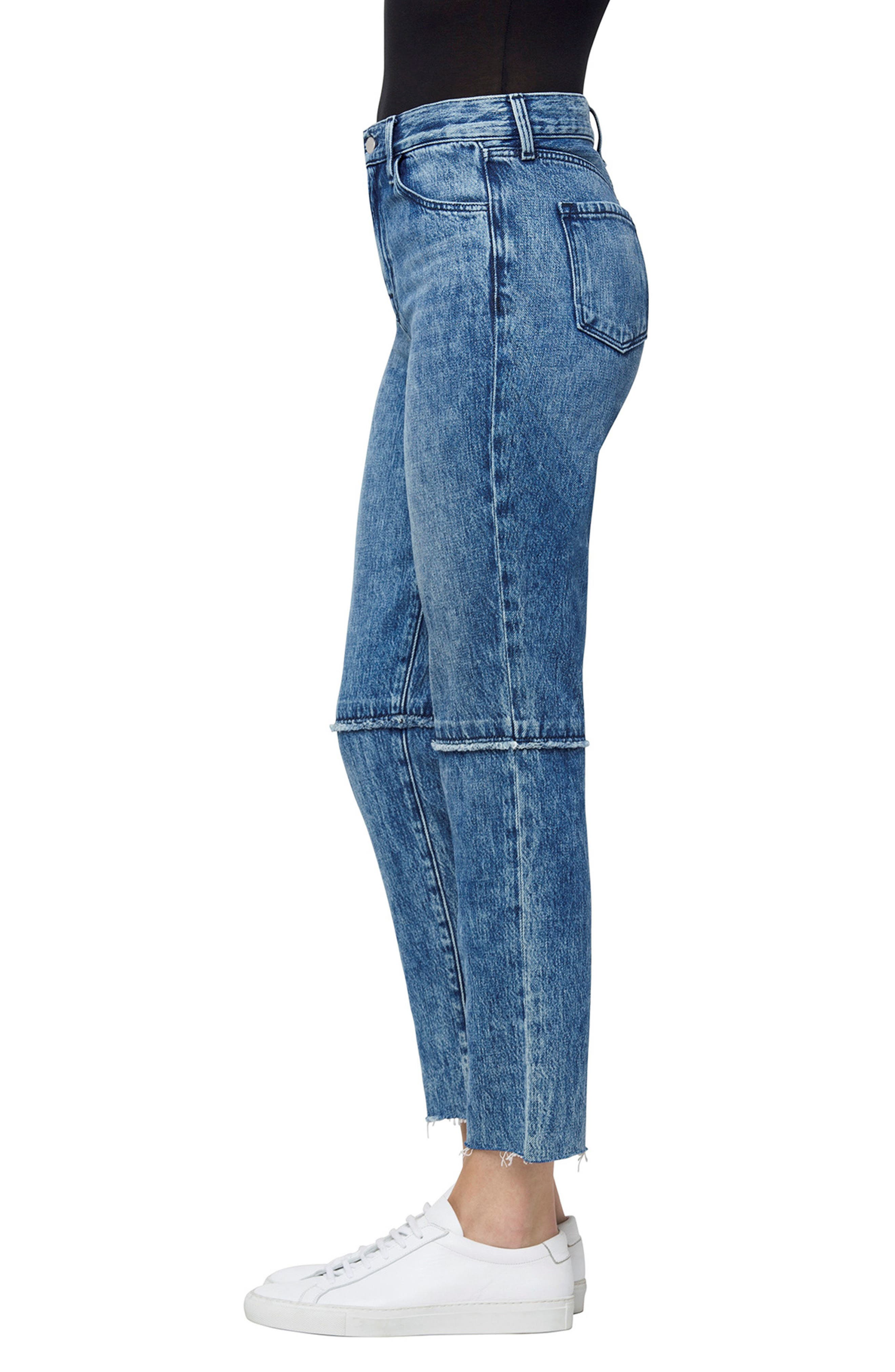 Ruby High Waist Crop Jeans,                             Alternate thumbnail 3, color,                             Satellite