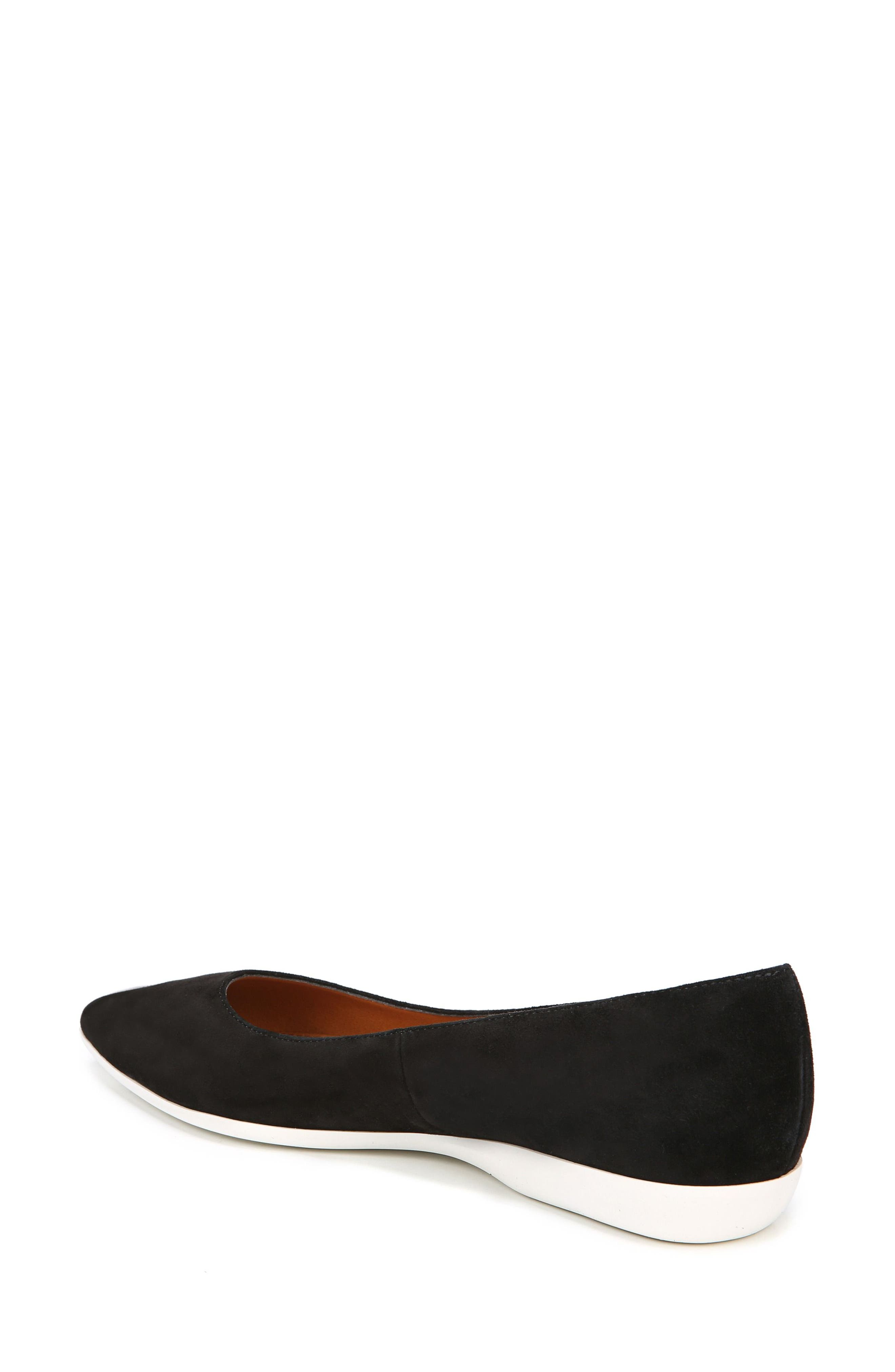 Dexie Pointy Toe Flat,                             Alternate thumbnail 3, color,                             Black Suede