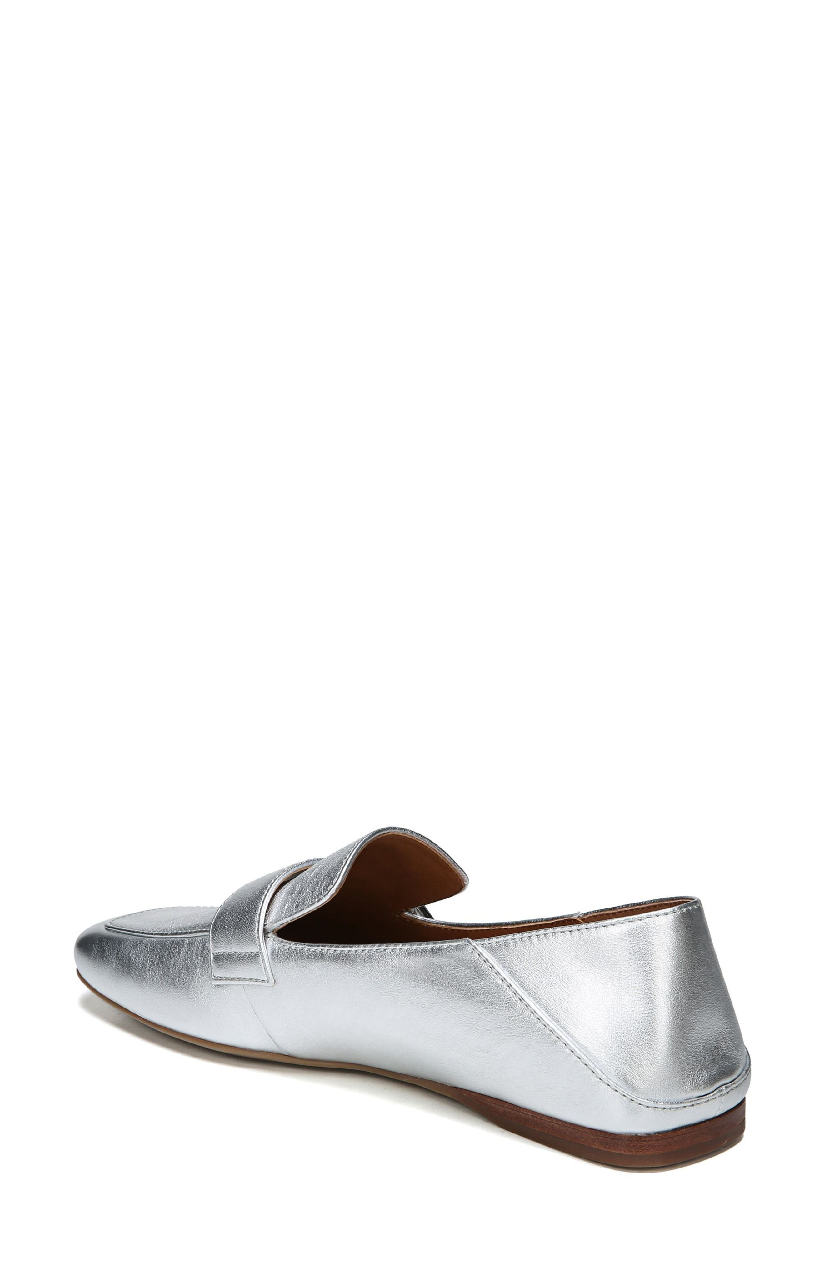 Valeres Loafer,                             Alternate thumbnail 3, color,                             Silver Metallic Leather