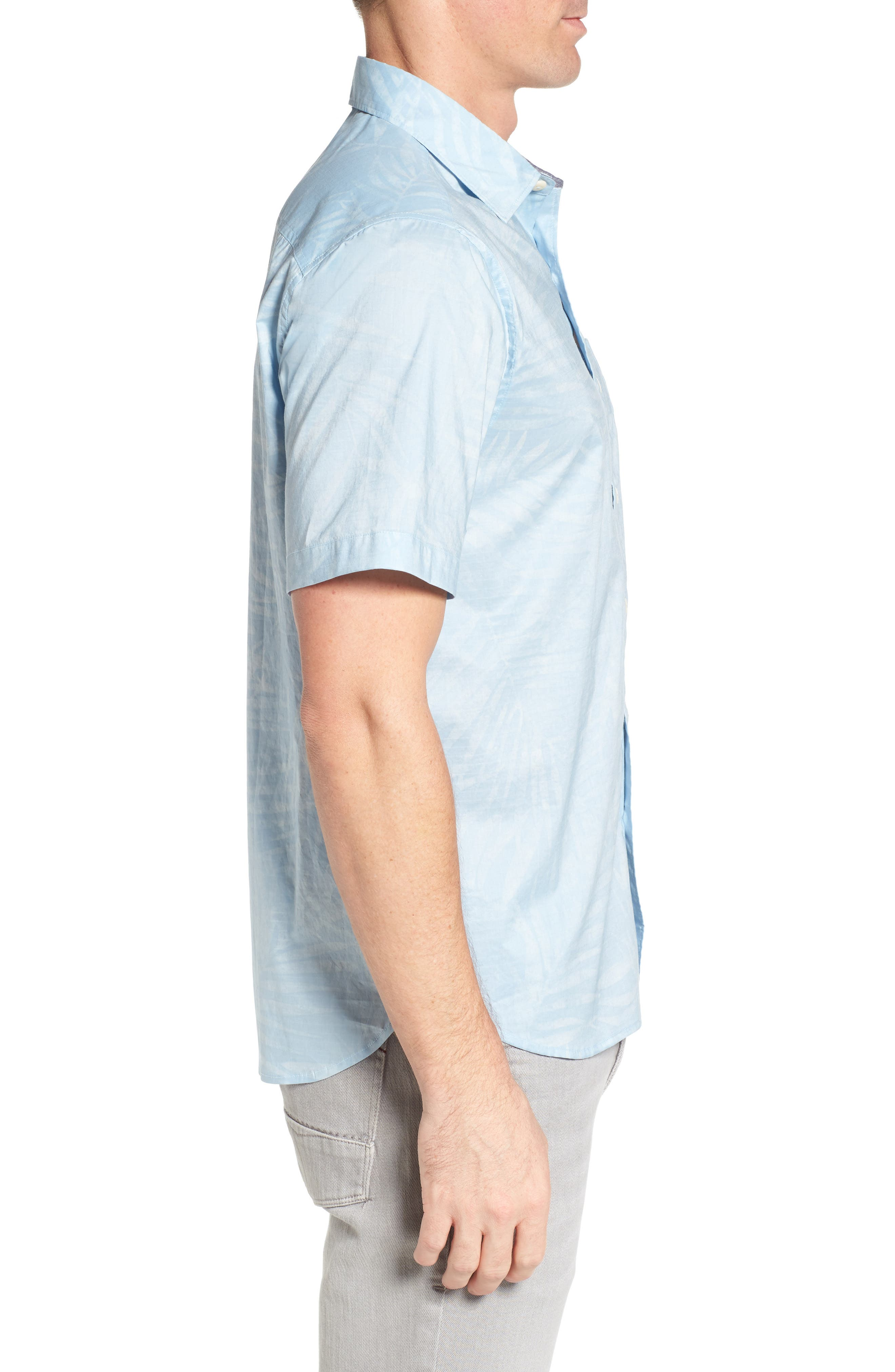 Vero Fronds Sport Shirt,                             Alternate thumbnail 3, color,                             Opal