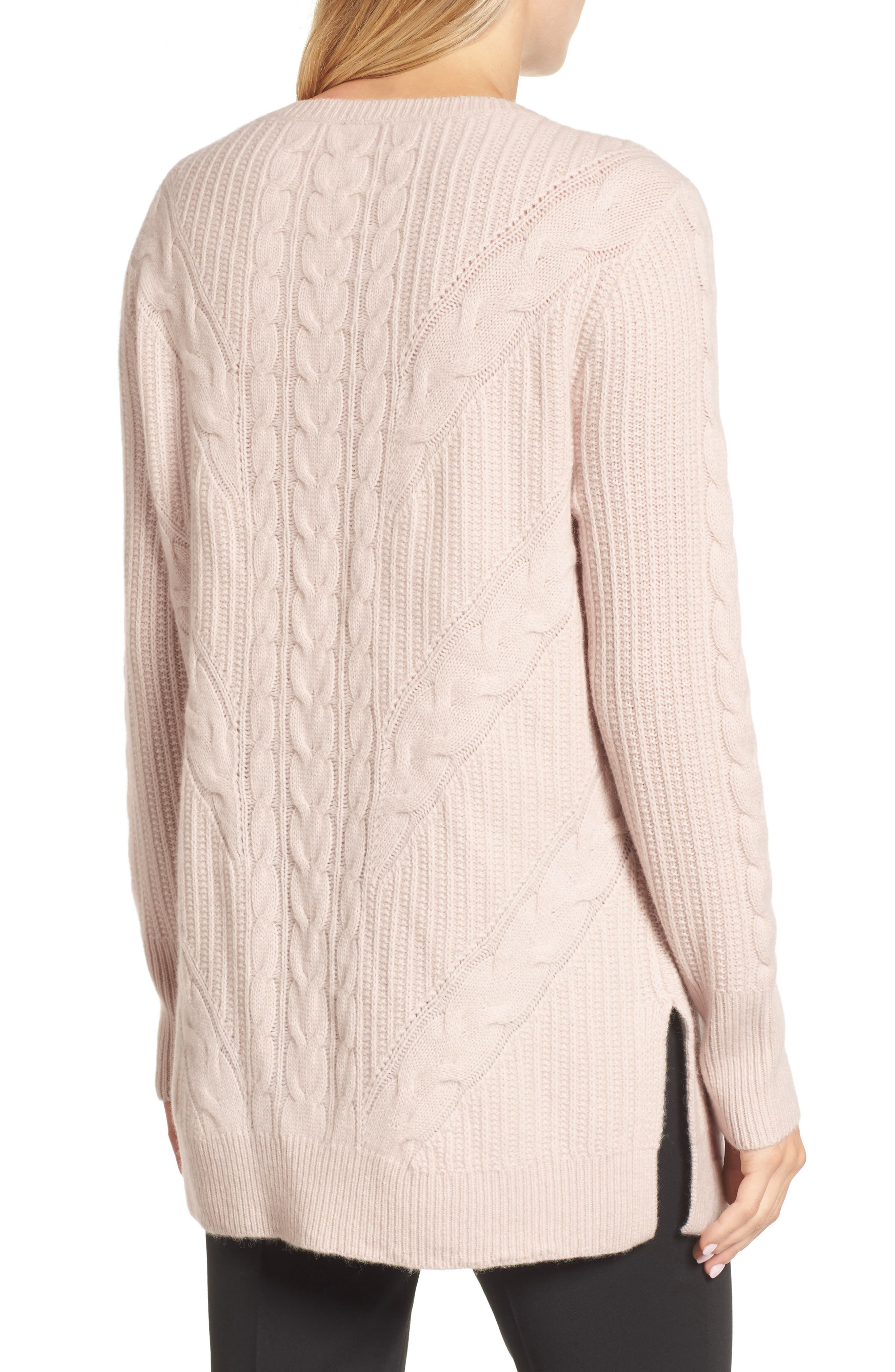 Alternate Image 2  - Emerson Rose Cashmere Cable Tunic Sweater