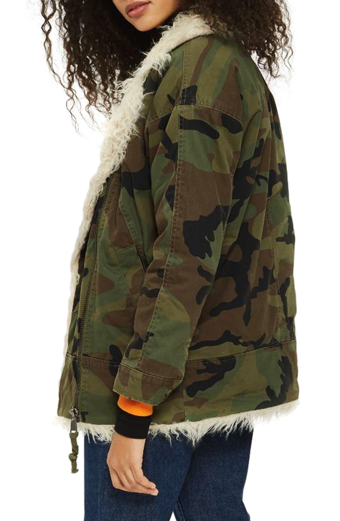 Jake Camouflage Jacket,                             Alternate thumbnail 2, color,                             Olive Multi