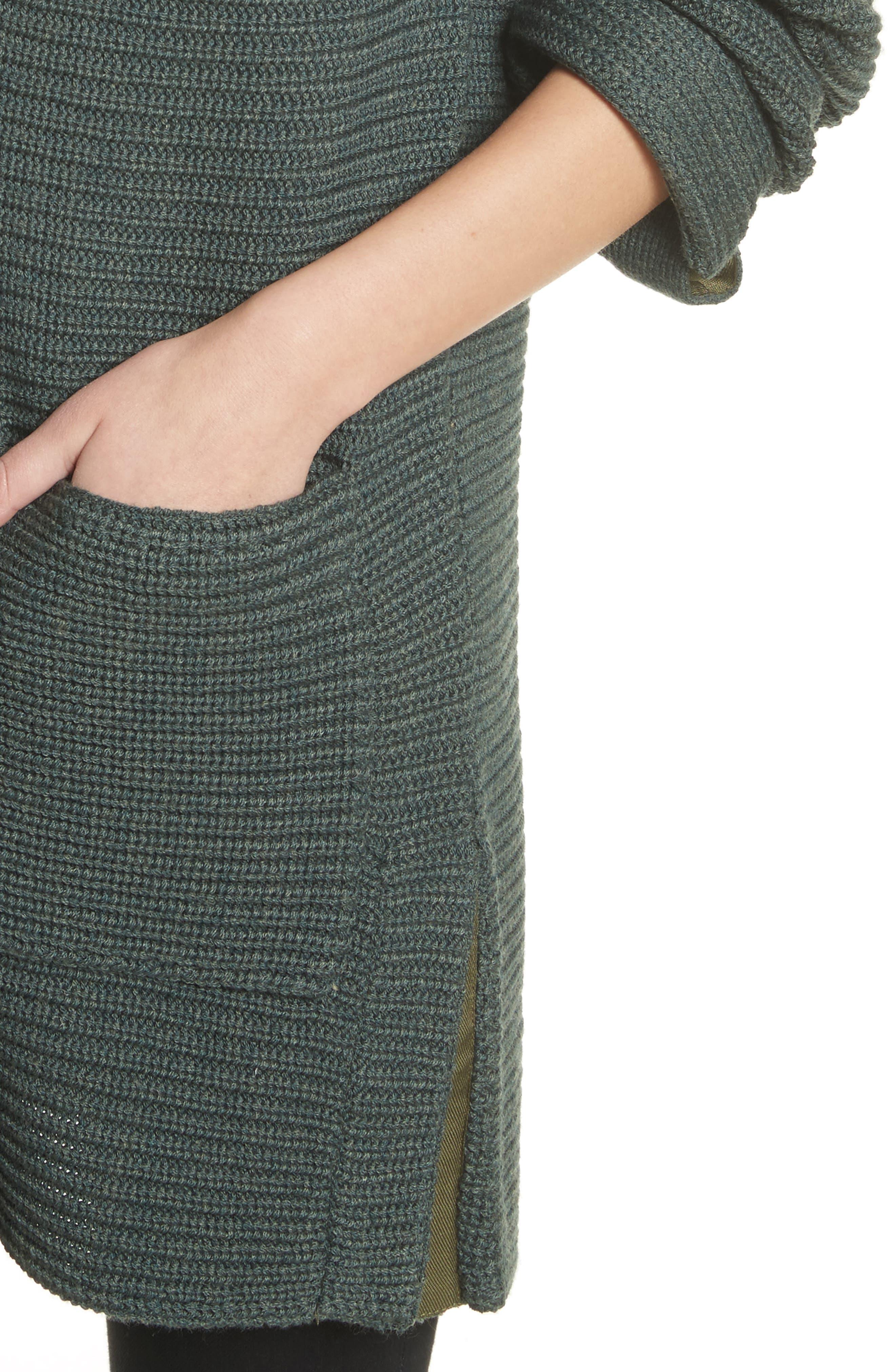 Fleta Merino Wool Blend Cardigan,                             Alternate thumbnail 5, color,                             Olive