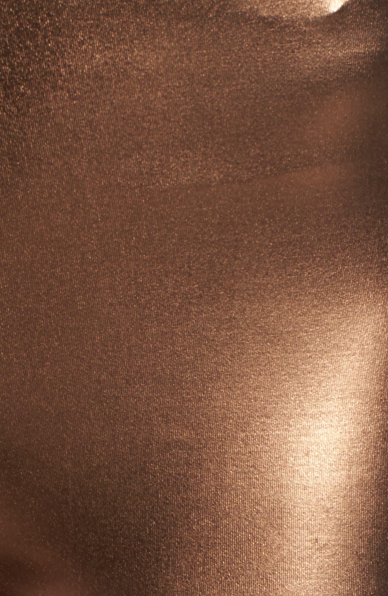 Metallic Leggings,                             Alternate thumbnail 6, color,                             Bronze