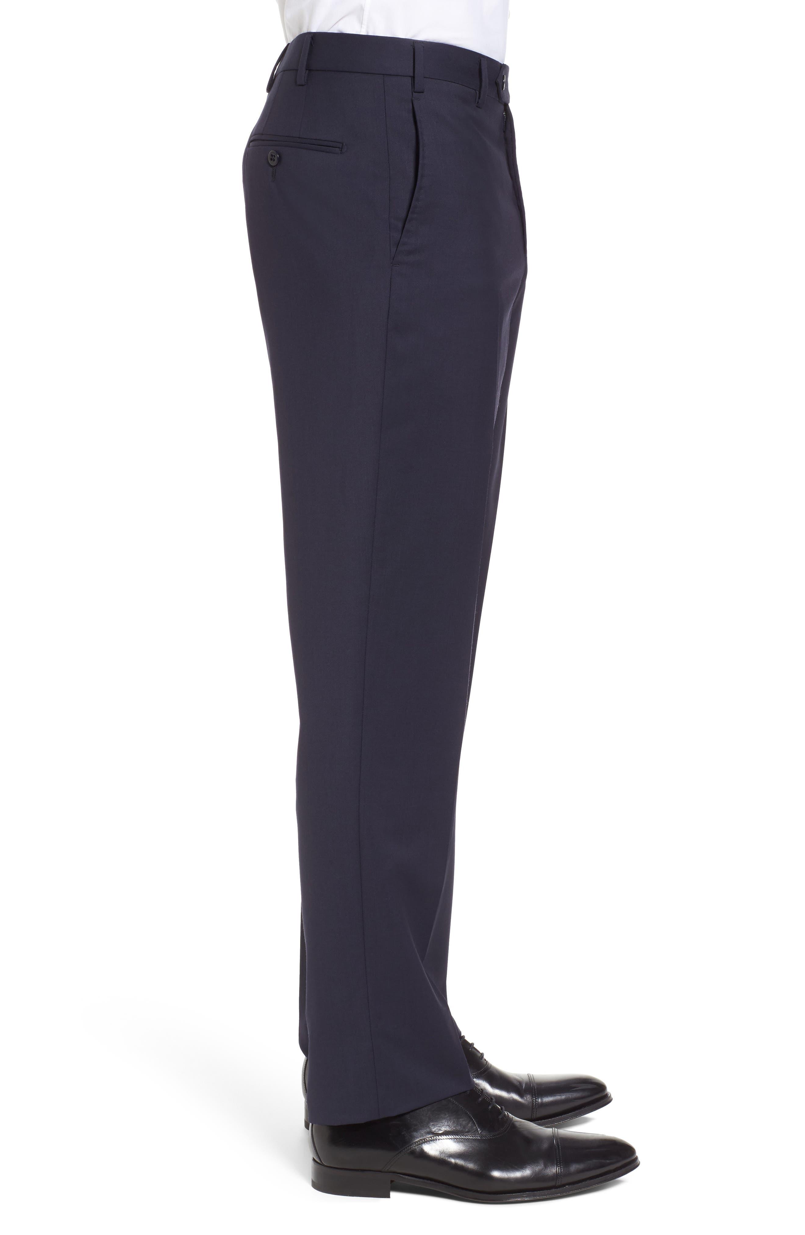 Alternate Image 3  - Zanella Devon Flat Front Solid Wool Serge Trousers