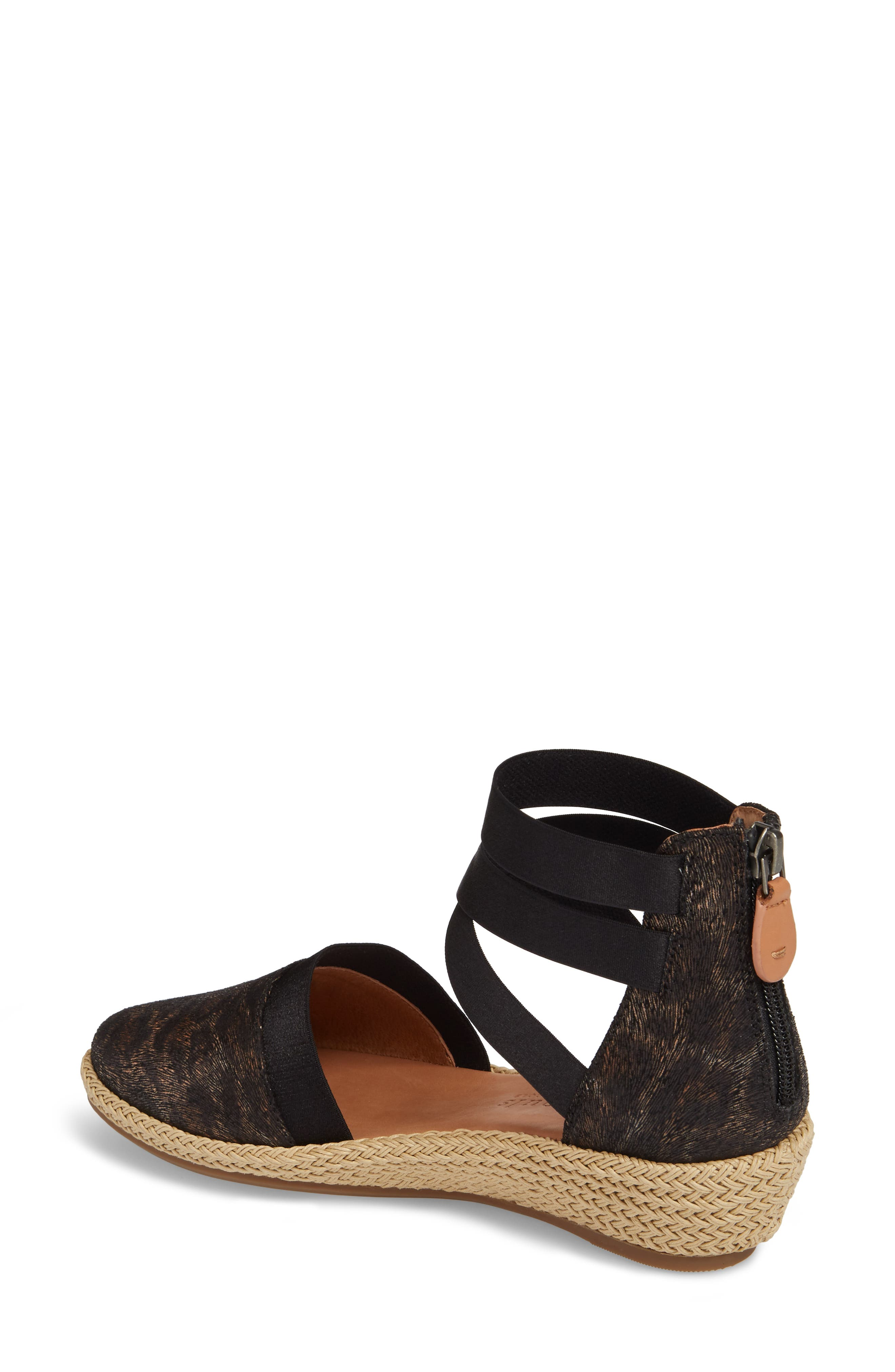 by Kenneth Cole Beth Espadrille Sandal,                             Alternate thumbnail 2, color,                             Black Leopard Printed Leather