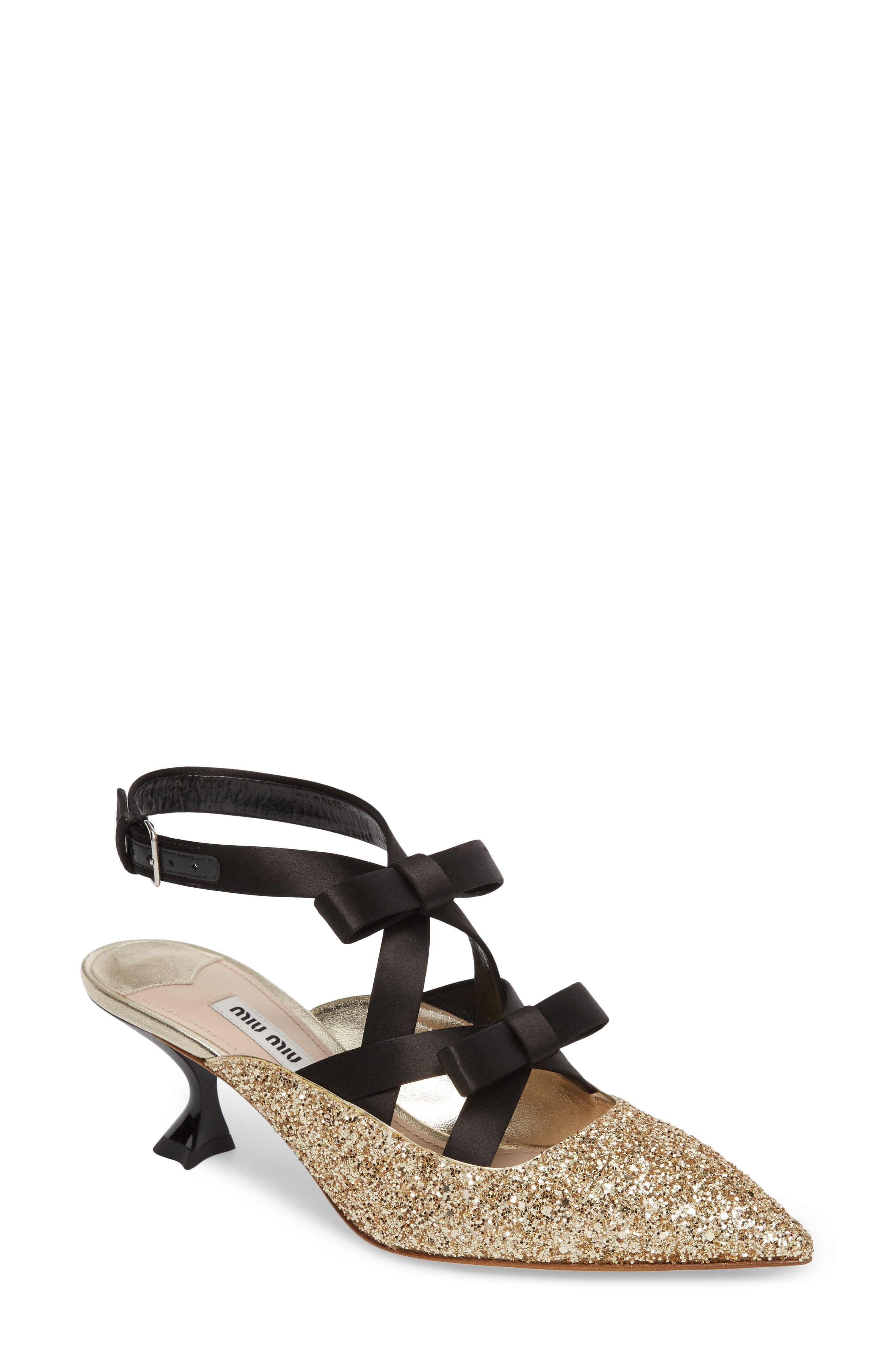 Miu Miu Bow Strap Pump (Women)