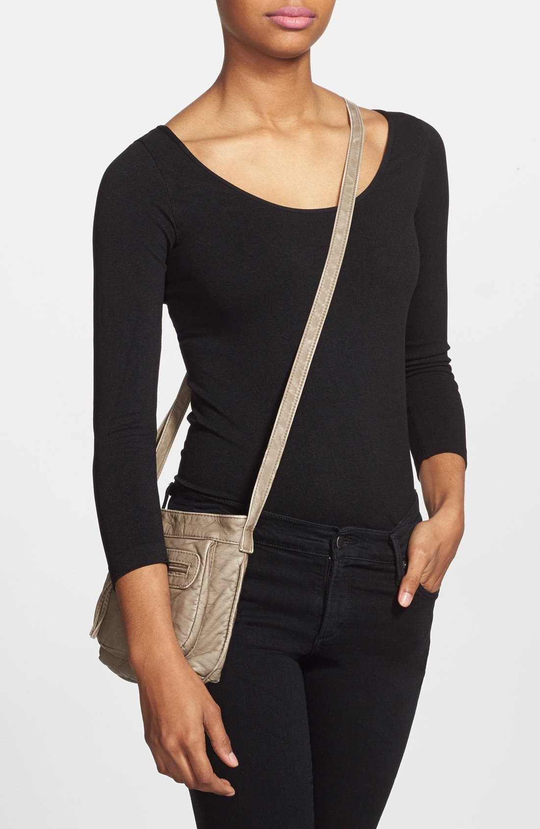 Alternate Image 2  - T-Shirt & Jeans 'Washed' Small Crossbody Bag