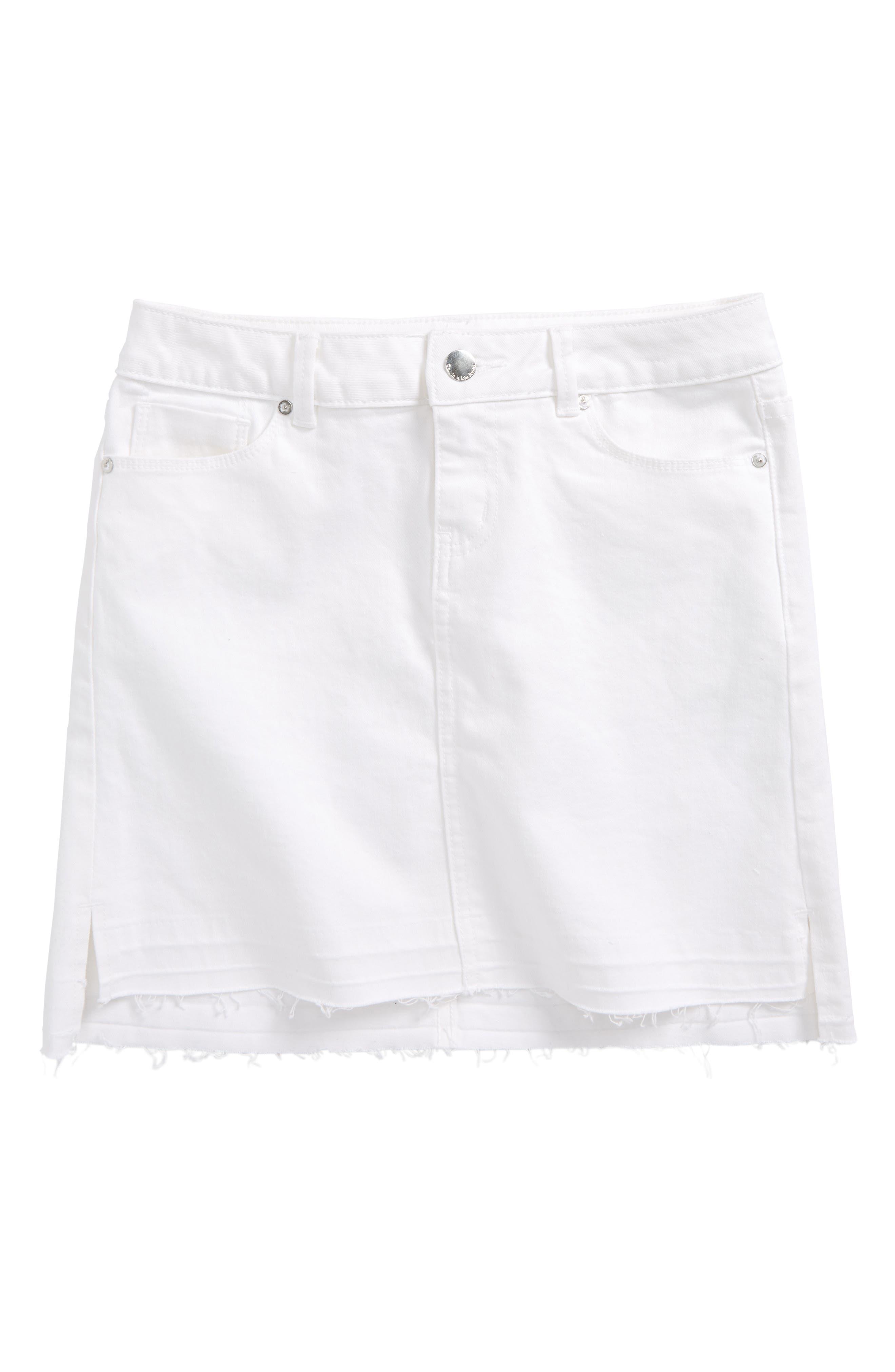 Calvin Klein Release Hem Denim Skirt (Big Girls)