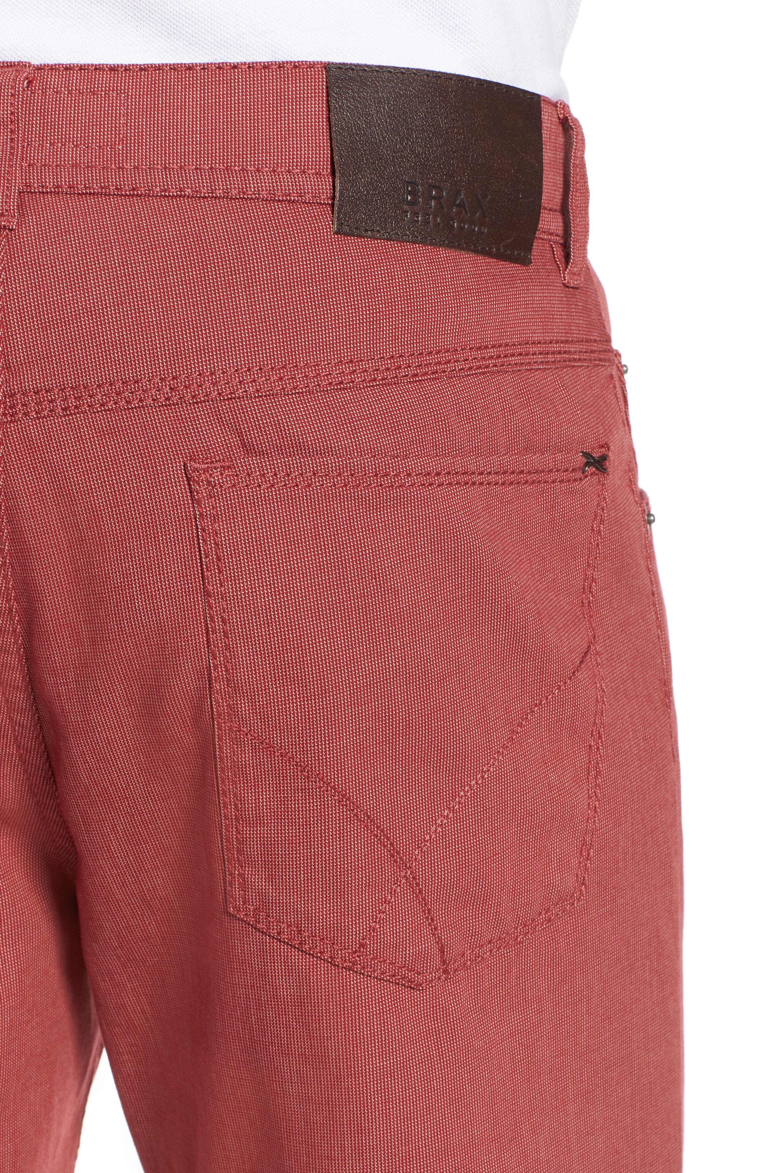 Sensation Stretch Trousers,                             Alternate thumbnail 4, color,                             Red