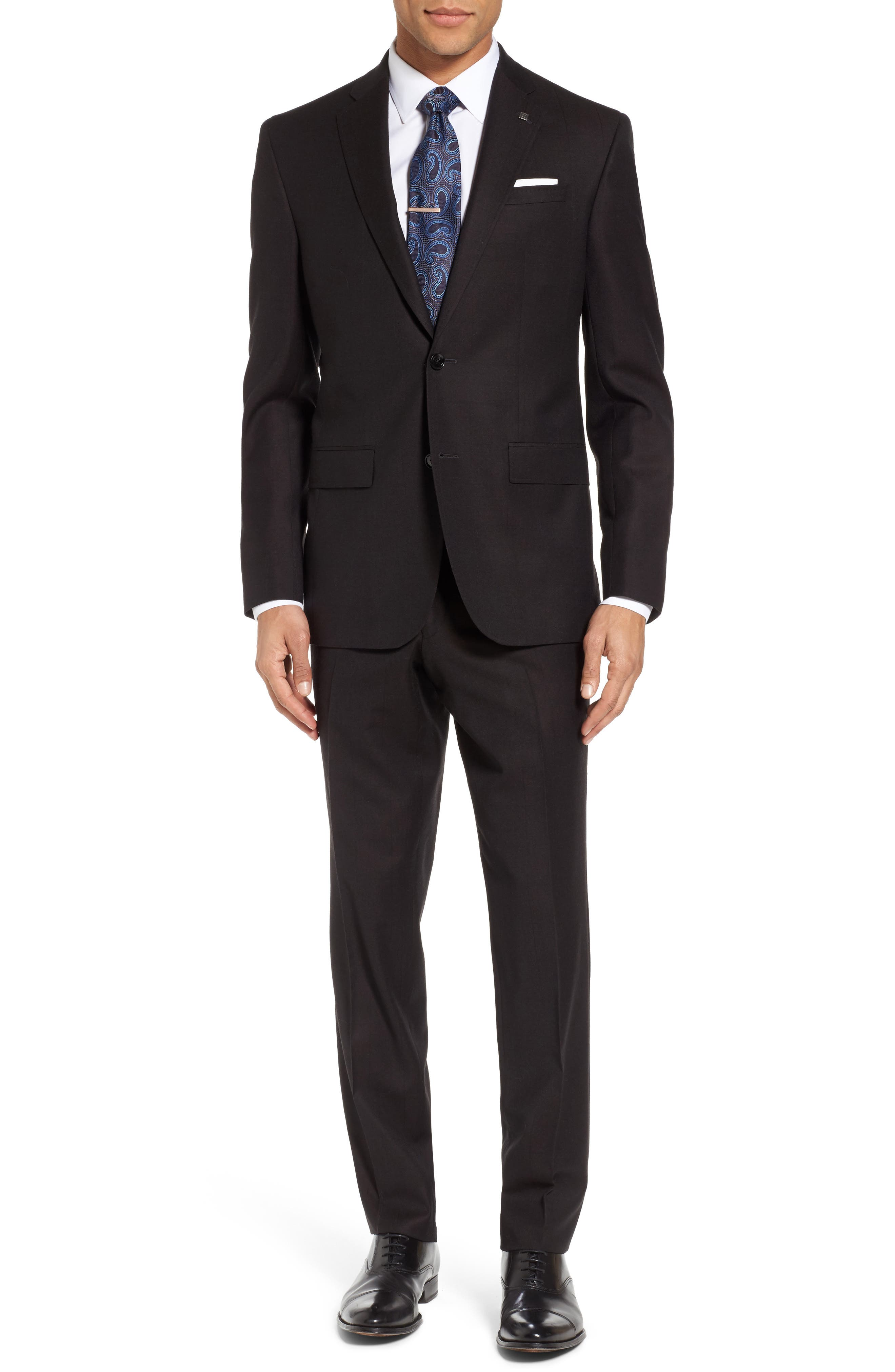 Jay Trim Fit Solid Wool Suit,                         Main,                         color, Brown