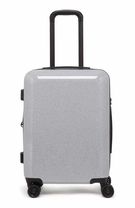 Calpak Medora Glitter 20 Inch Hards Spinner Carry On Suitcase