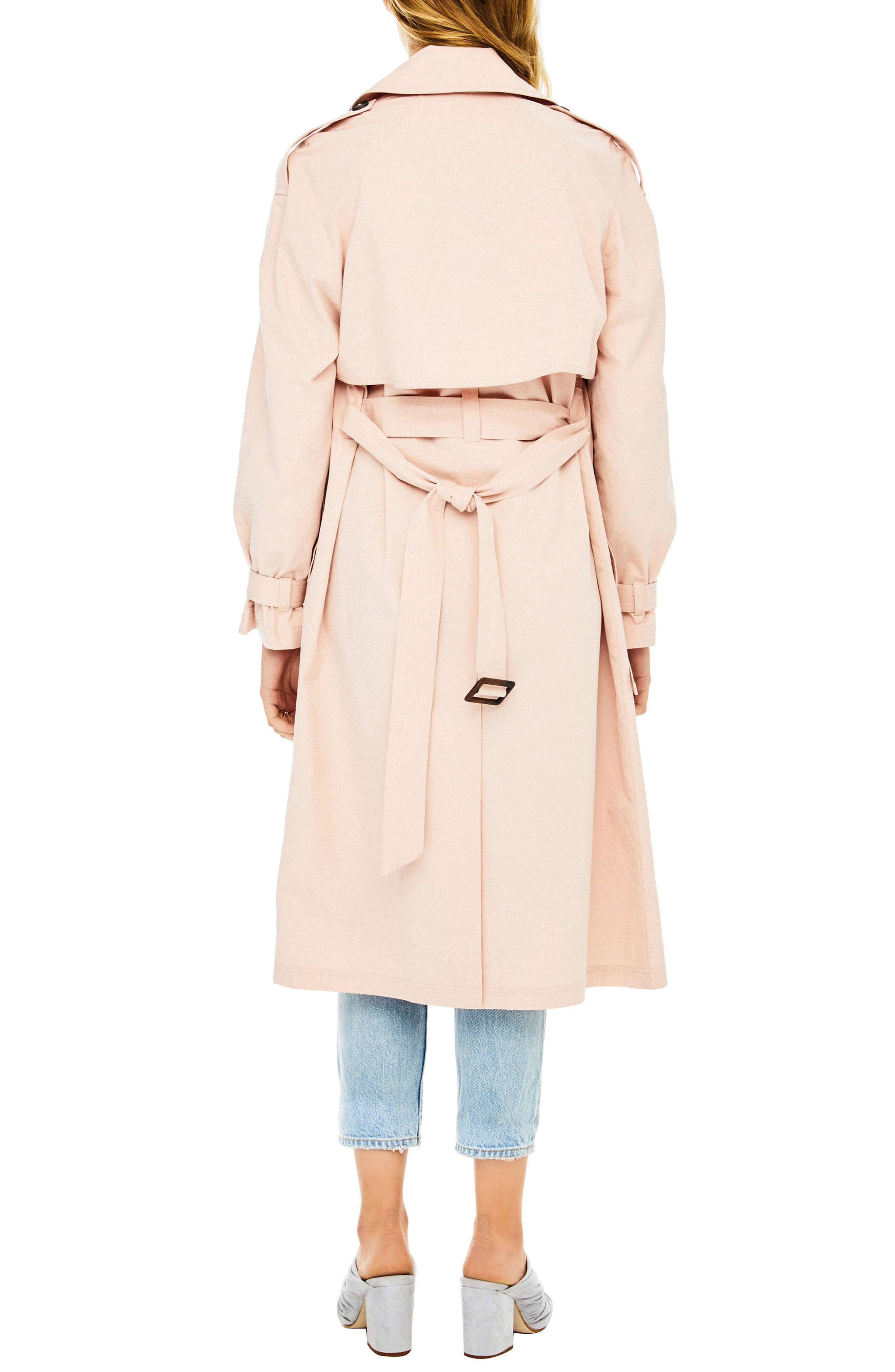 Wesley Trench Coat,                             Alternate thumbnail 2, color,                             Blush