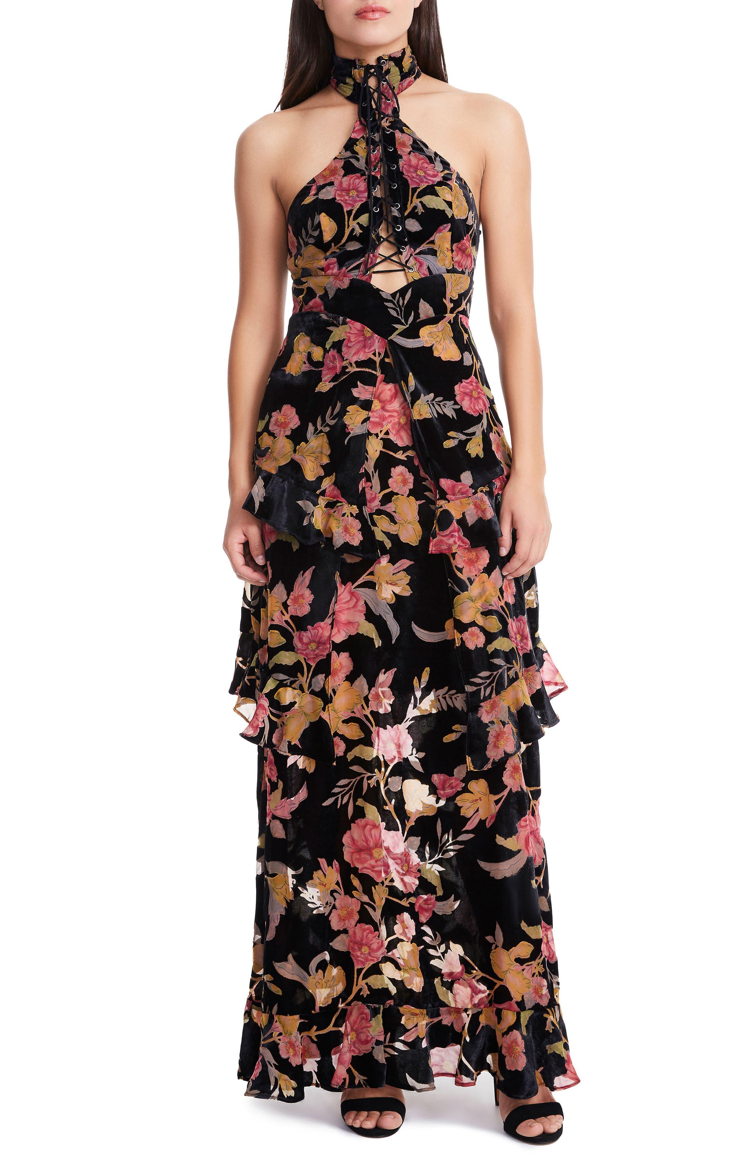 Alternate Image 1 Selected - AFRM Remington Choker Maxi Dress