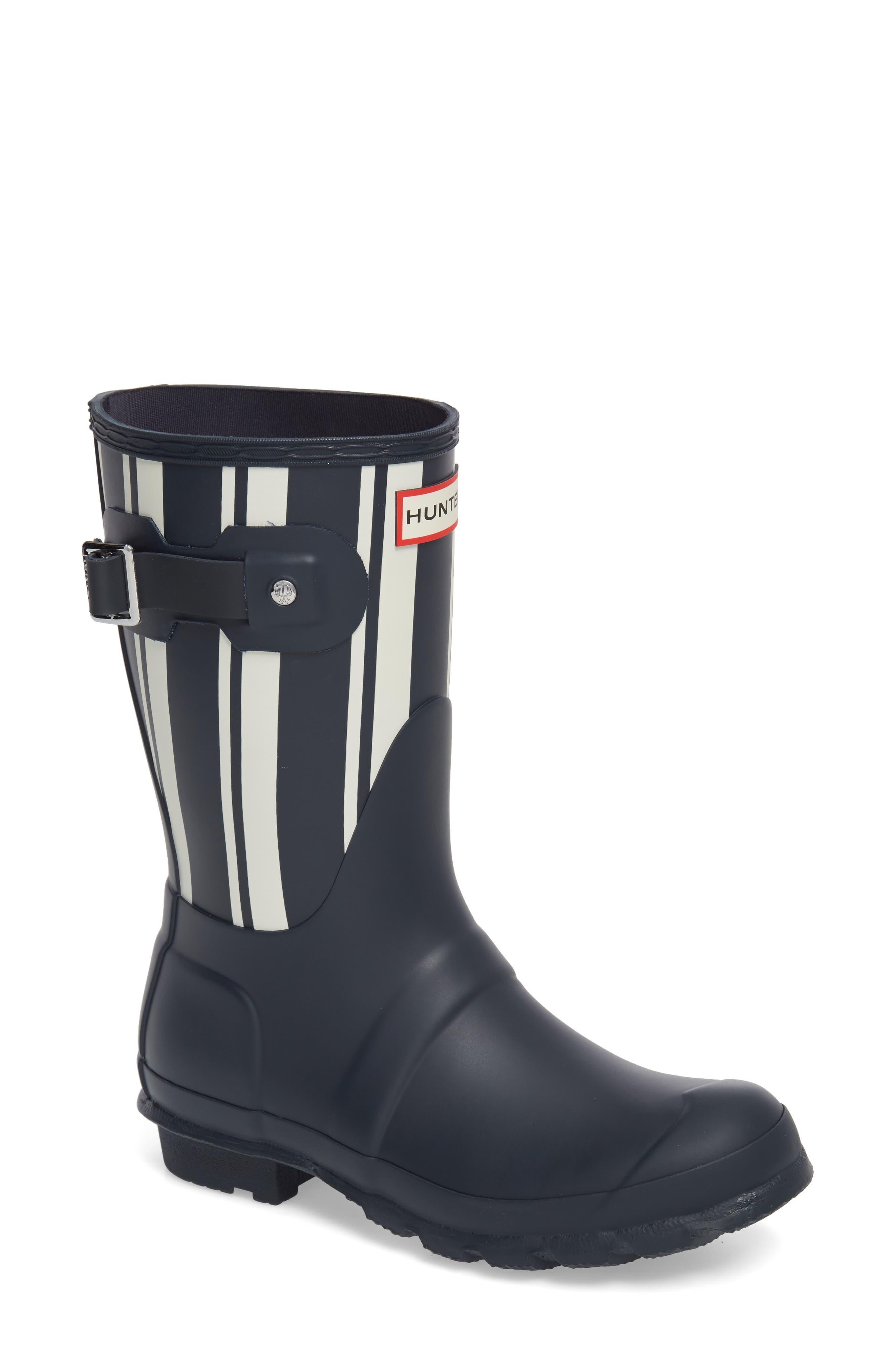 Original Garden Stripe Short Boot,                             Main thumbnail 1, color,                             Navy/ White