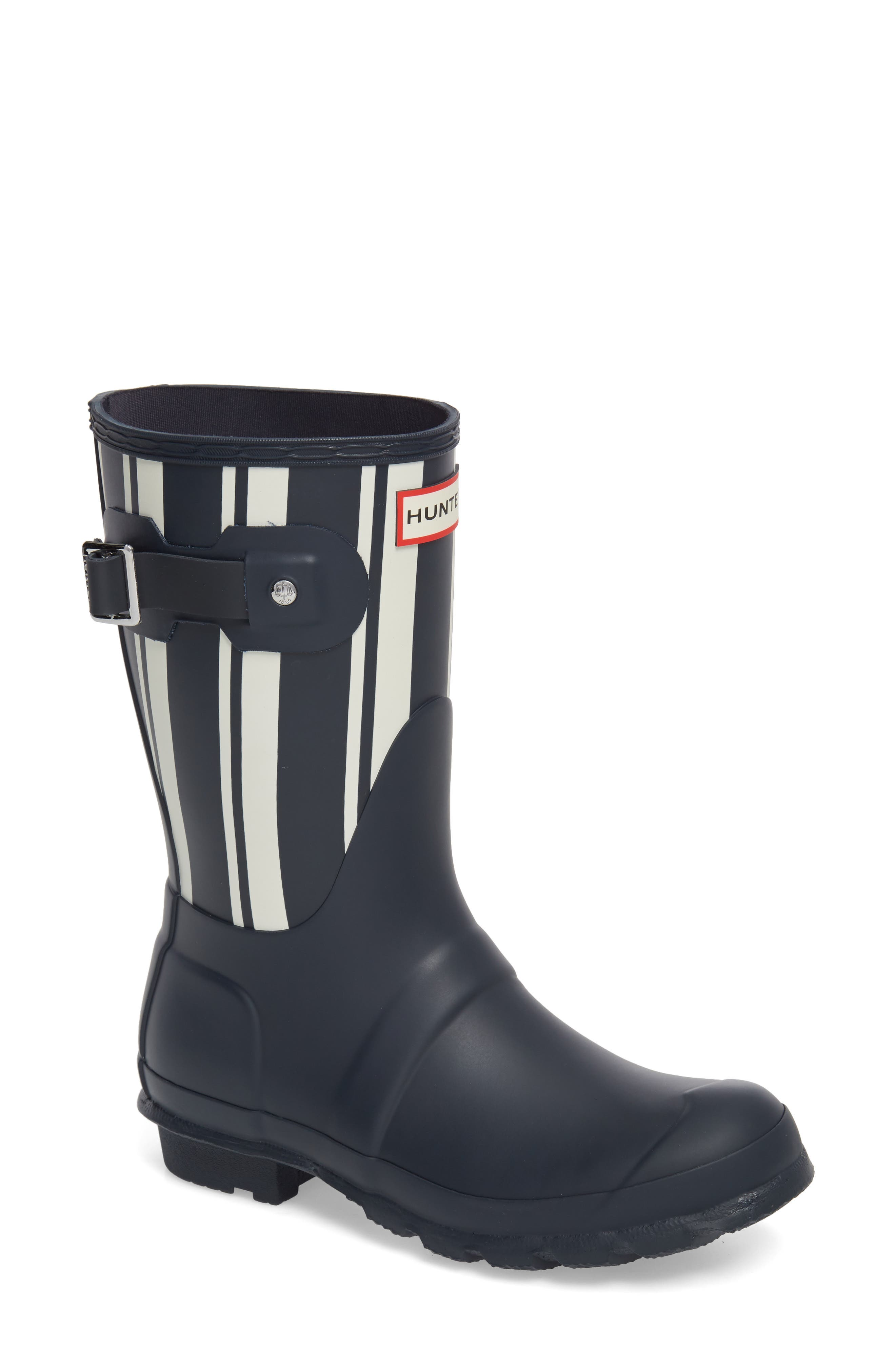 Original Garden Stripe Short Boot,                         Main,                         color, Navy/ White