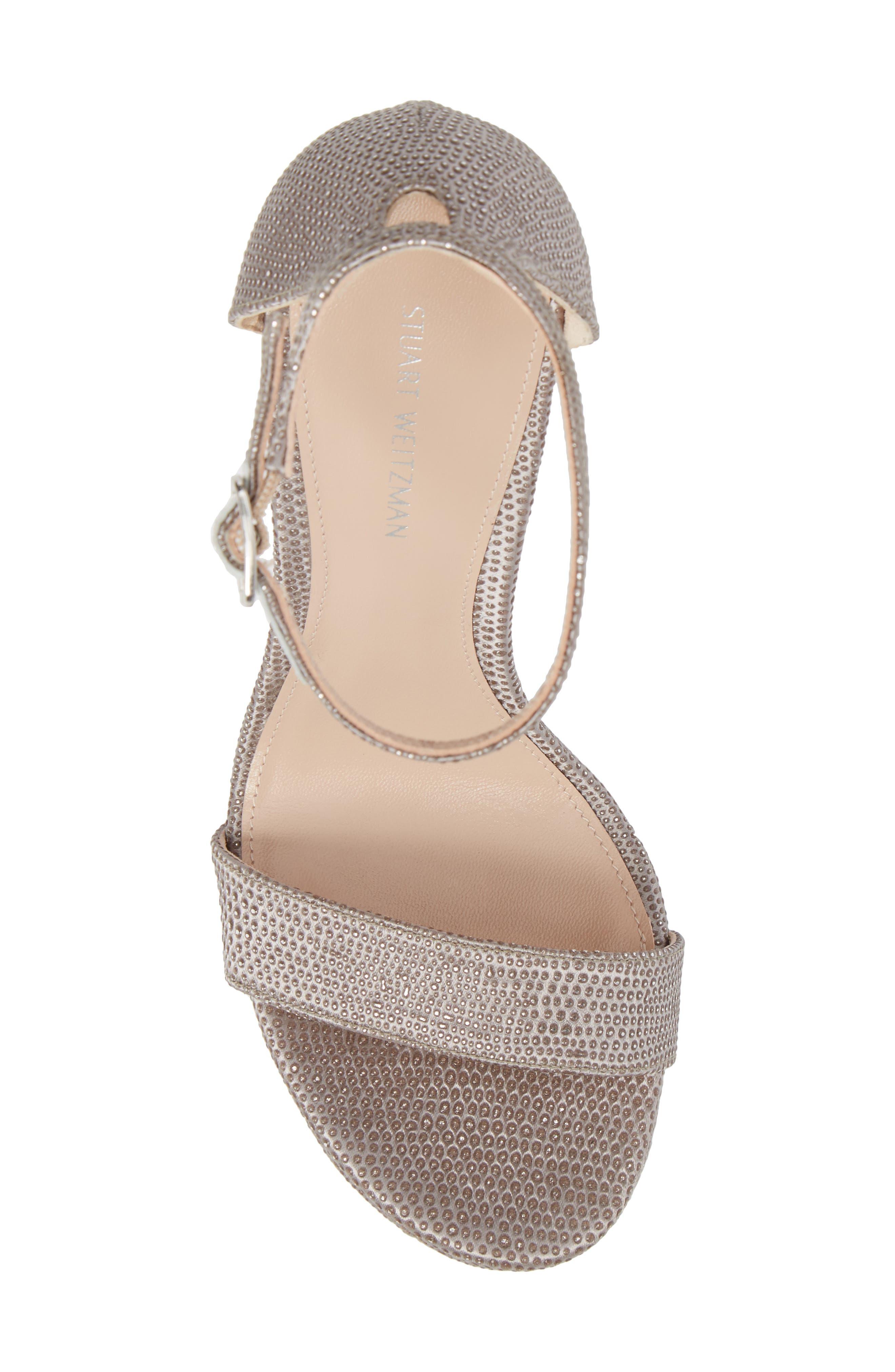 Stuart Weitzamn SOHOT Platform Sandal,                             Alternate thumbnail 5, color,                             Plata Crystaline