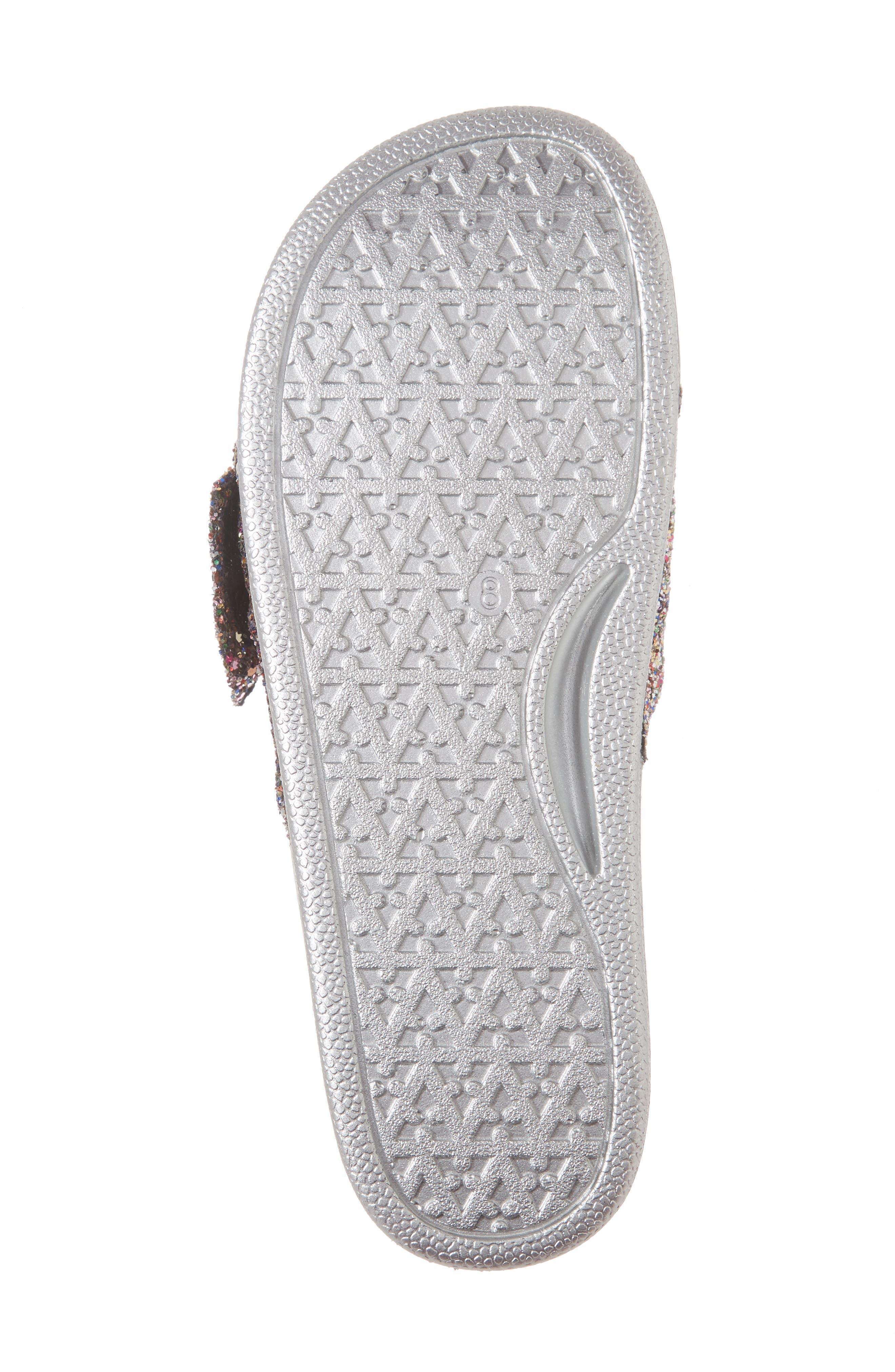 shellie slide sandal,                             Alternate thumbnail 6, color,                             Multi Glitter