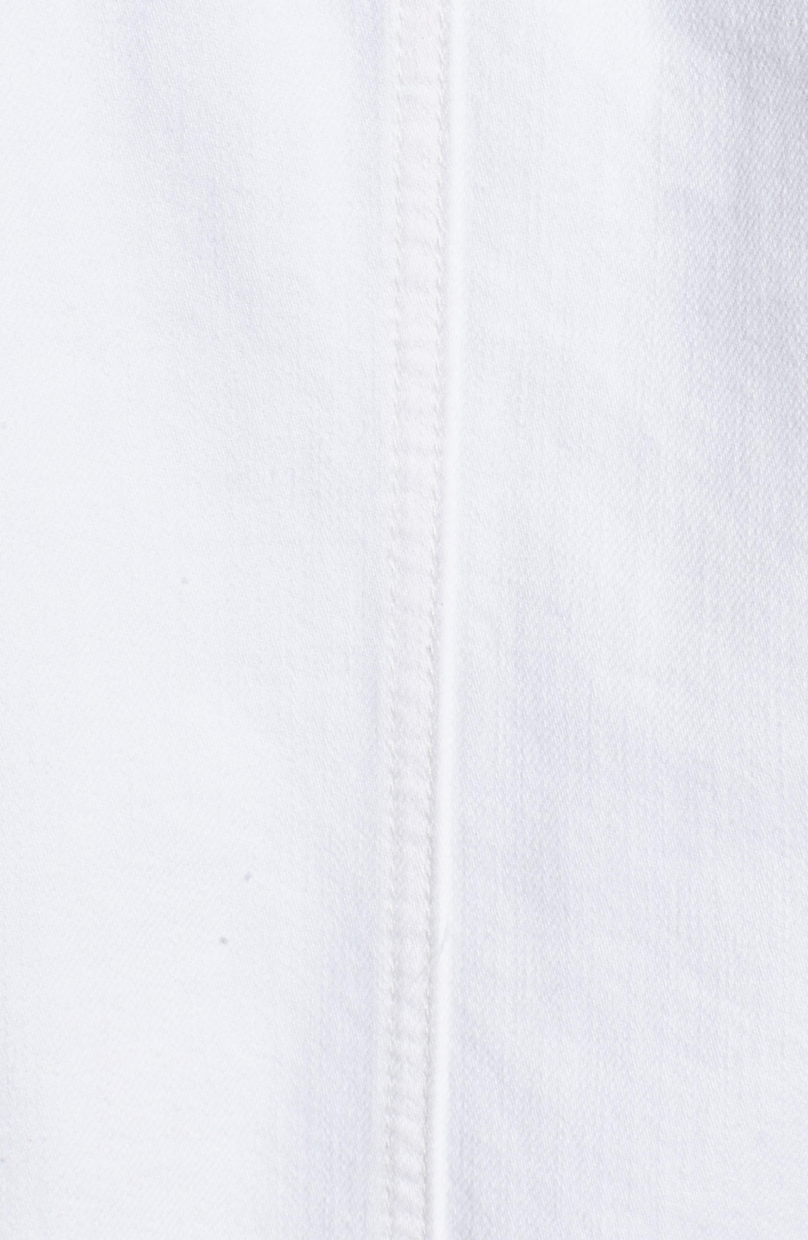 Distressed Denim Jacket,                             Alternate thumbnail 5, color,                             Milky Way