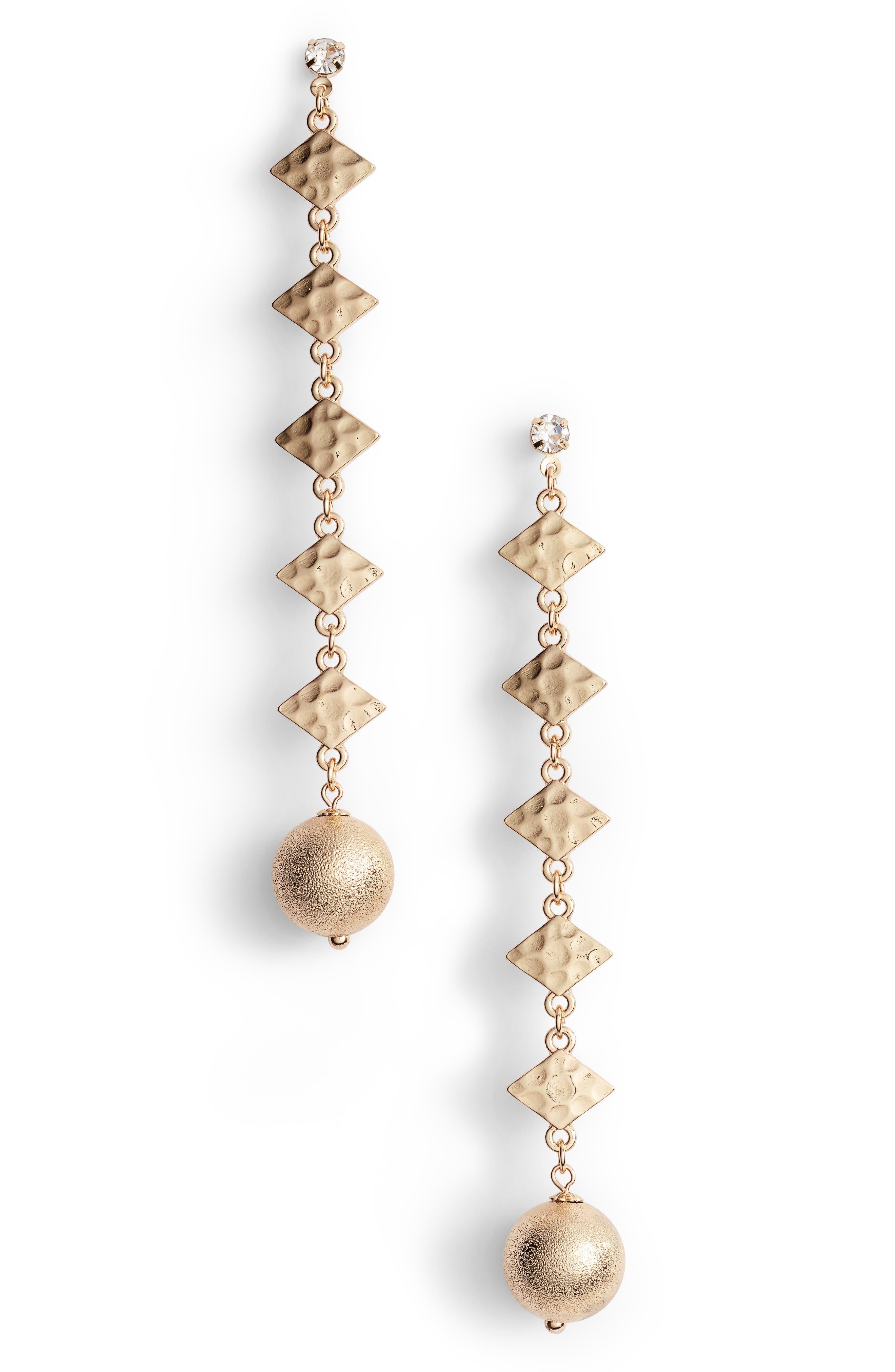 BP. Spear Ball Shoulder Duster Earrings