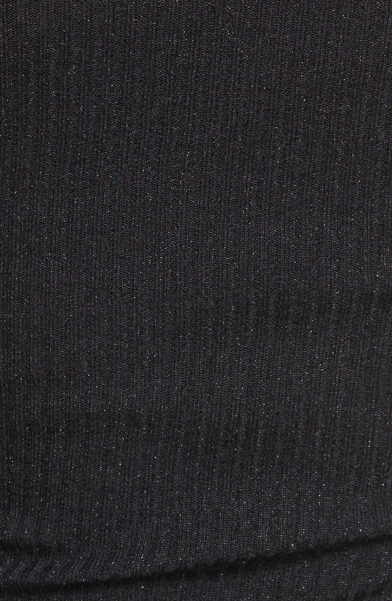 Alternate Image 5  - autumn cashmere Metallic Cashmere & Silk Blend Off the Shoulder Top
