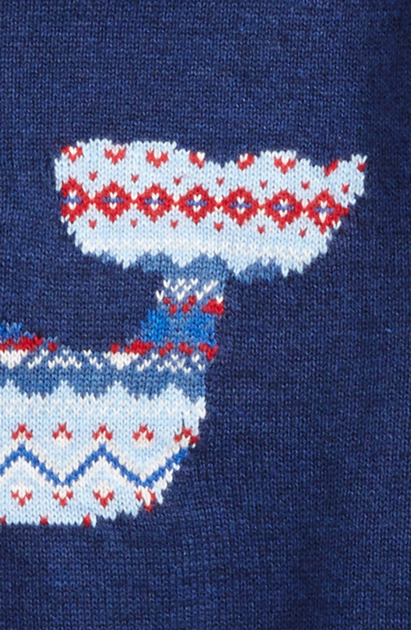 Whale Isle Intarsia Sweater,                             Alternate thumbnail 2, color,                             Deep Bay