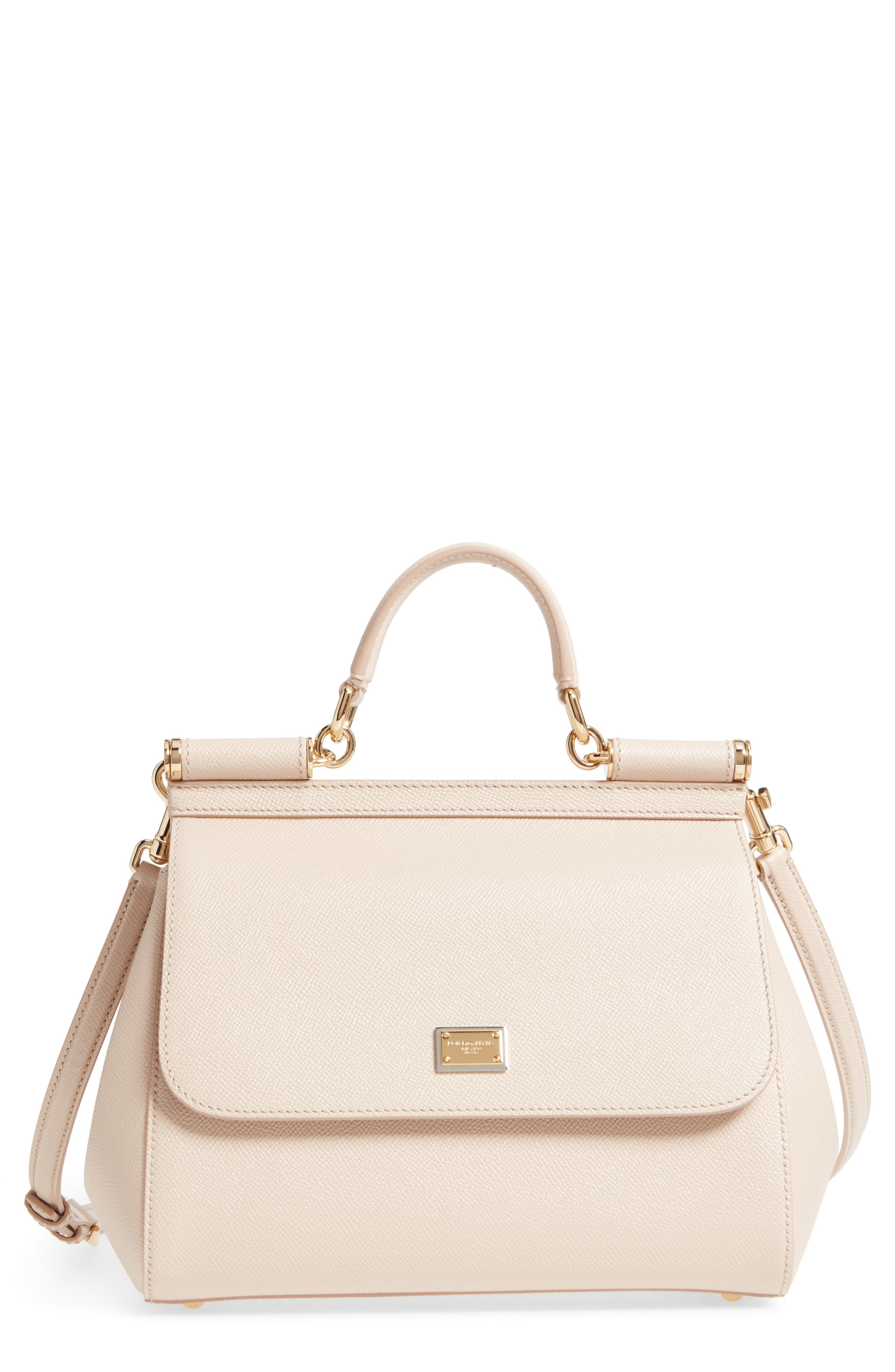 Alternate Image 1 Selected - Dolce&Gabbana 'Small Miss Sicily' Leather Satchel