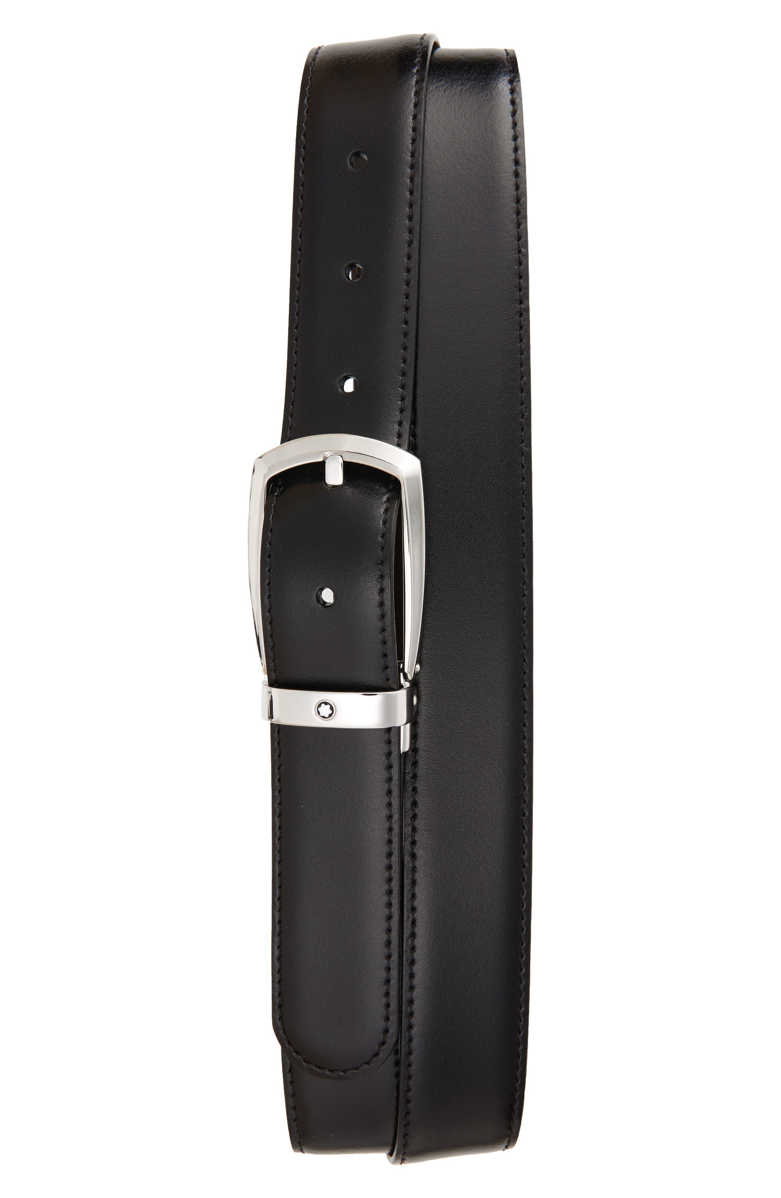 Alternate Image 1 Selected - MONTBLANC Reversible Leather Belt