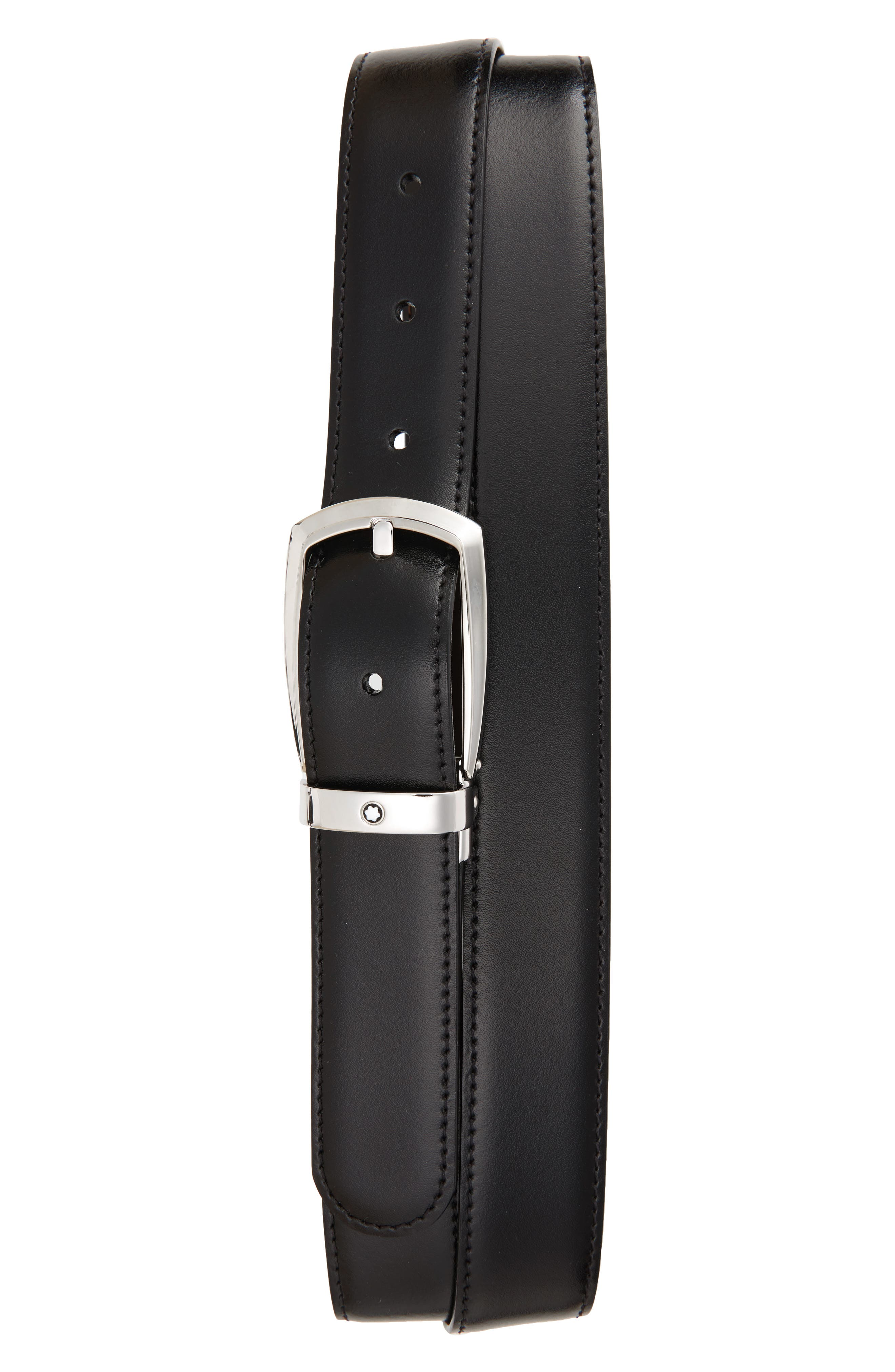 Reversible Leather Belt,                         Main,                         color, Black/ Brown