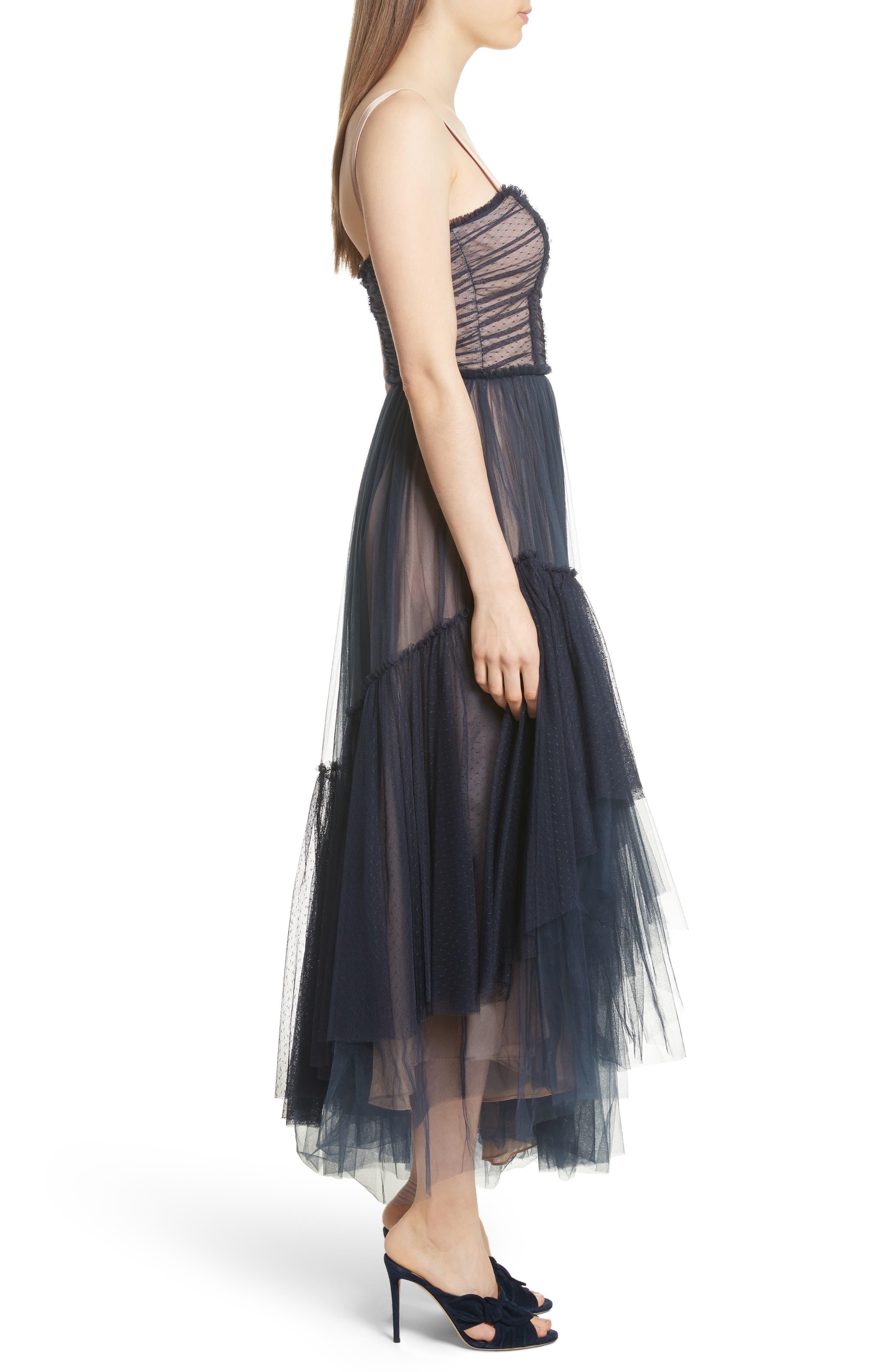 Alternate Image 3  - Cinq à Sept Coletta Asymmetrical Tulle Dress