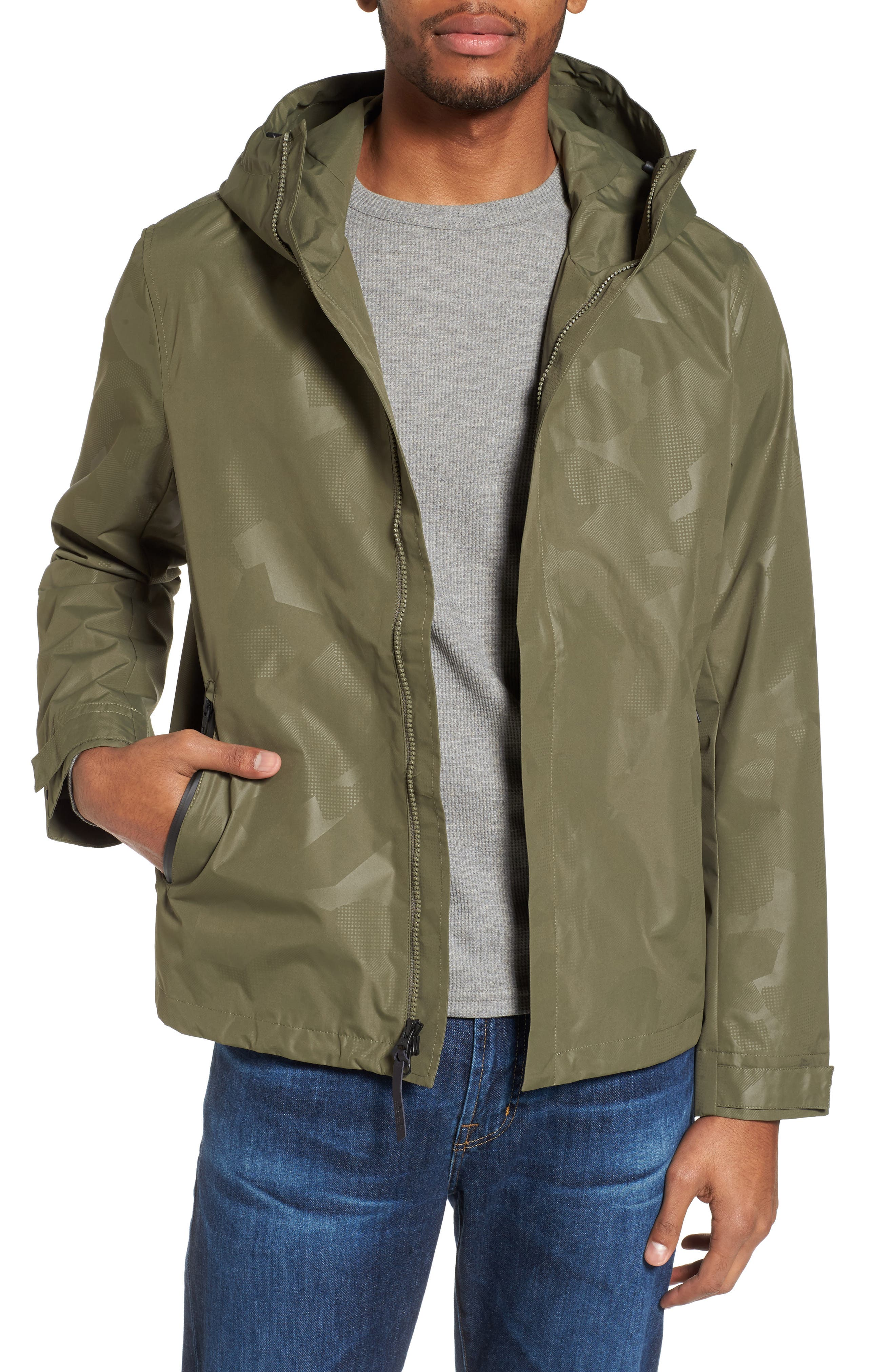 John Rich & Bros. Atlantic Camo Hooded Jacket,                             Main thumbnail 1, color,                             Grape Leaf Camo