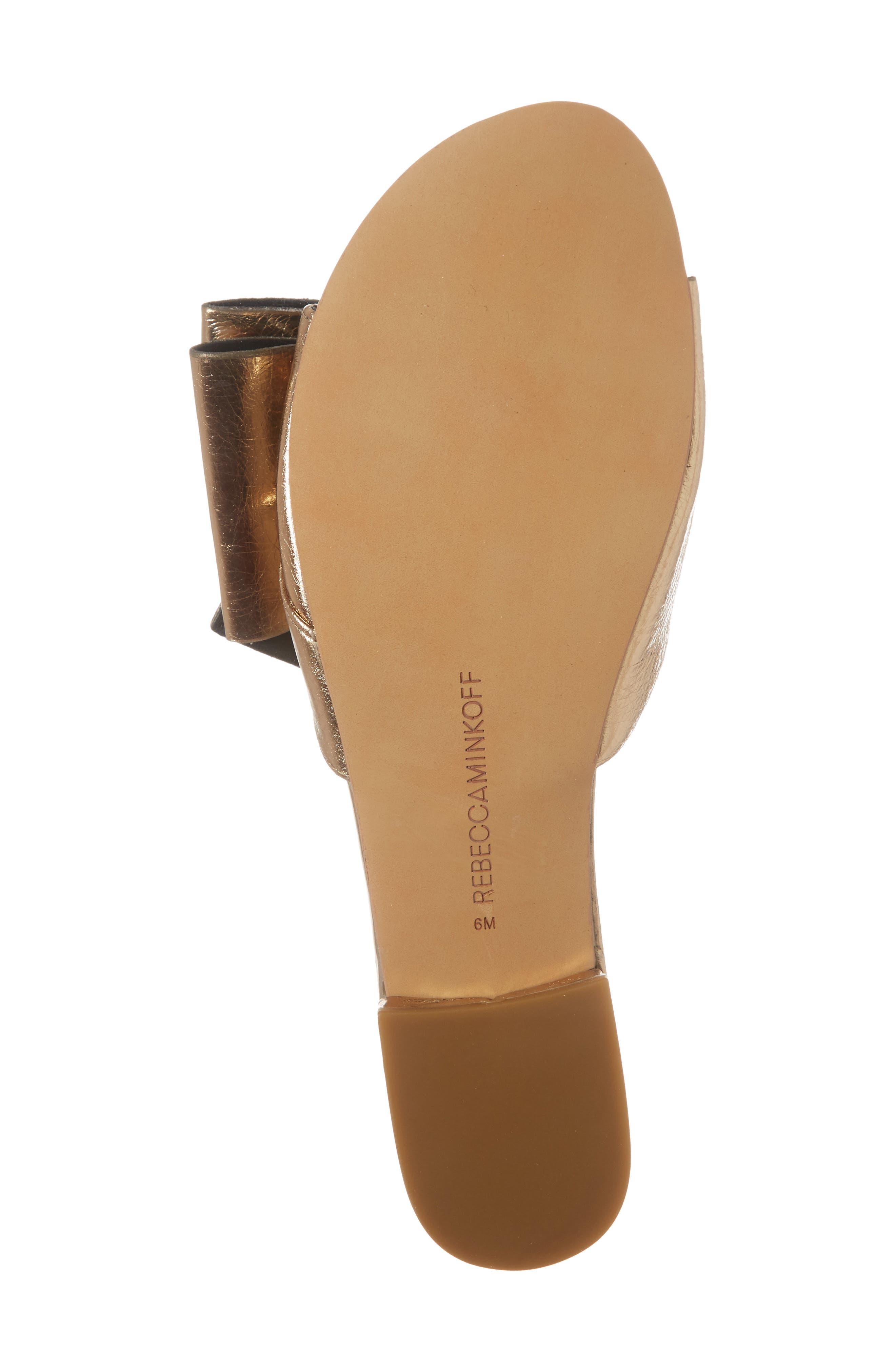 Calista Sandal,                             Alternate thumbnail 6, color,                             Gold Metallic Leather