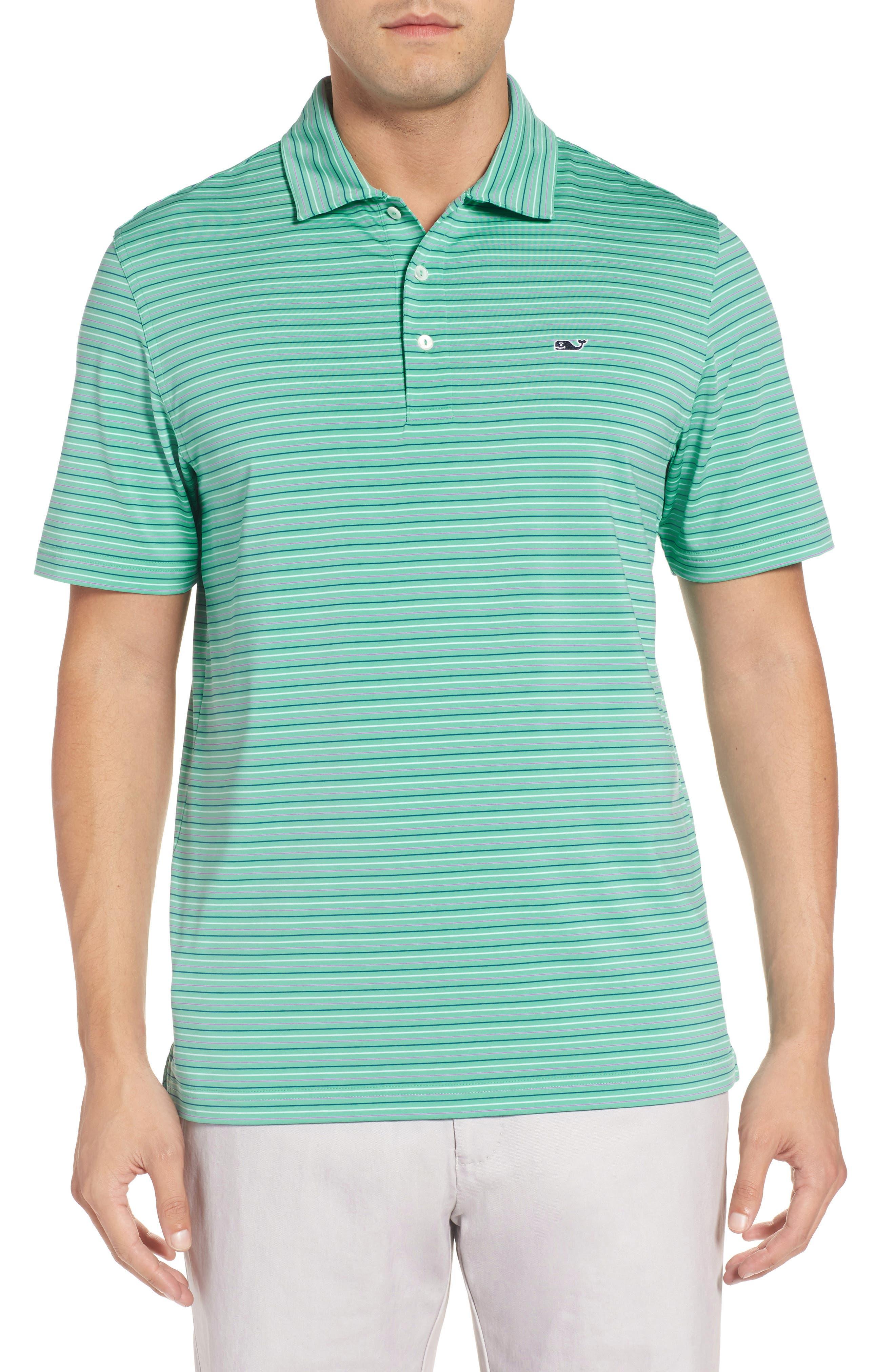 Multicolor Stripe Polo,                         Main,                         color, Antigua Green