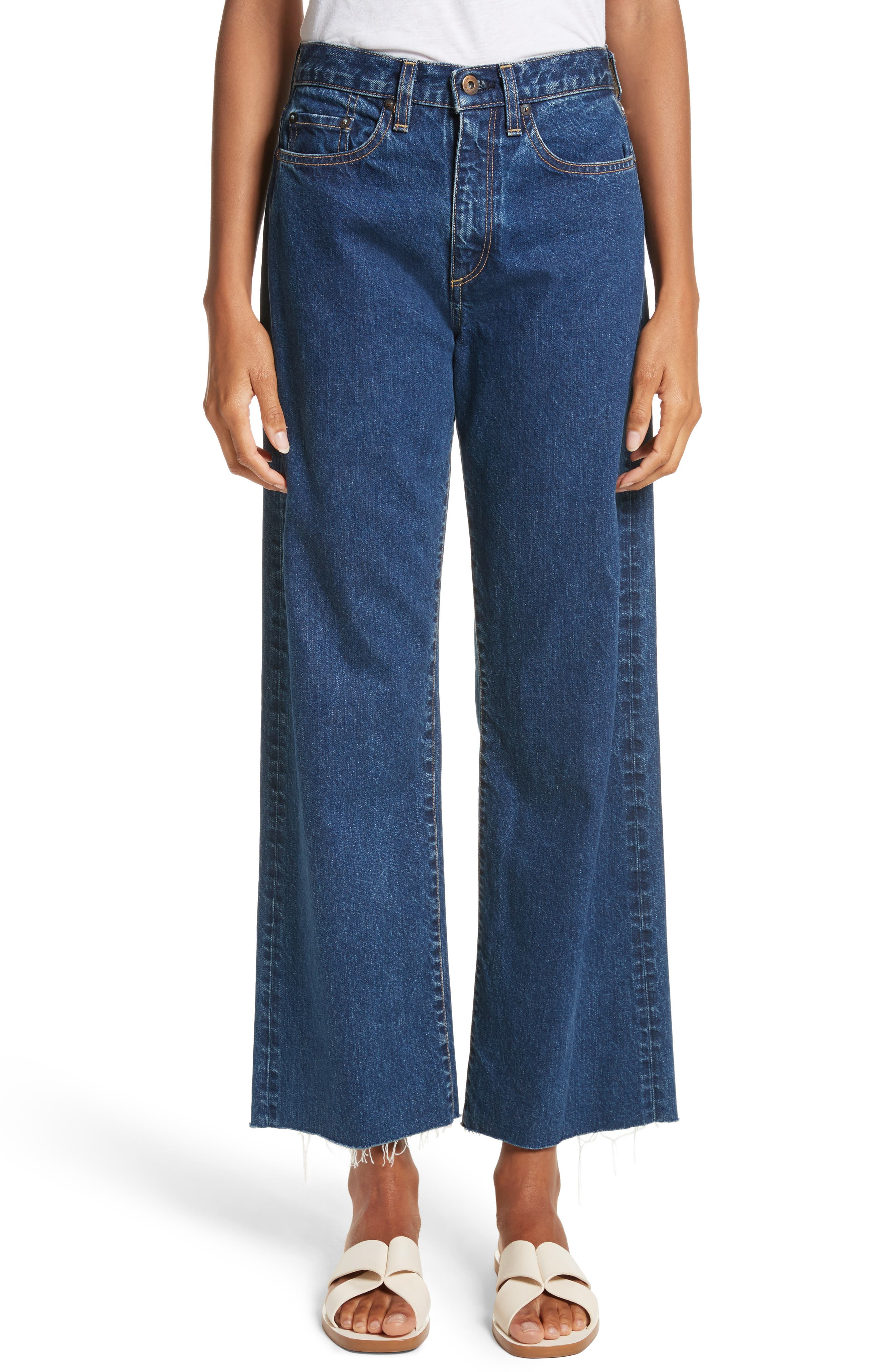 Toluca High Waist Wide Leg Jeans,                             Main thumbnail 1, color,                             Indigo