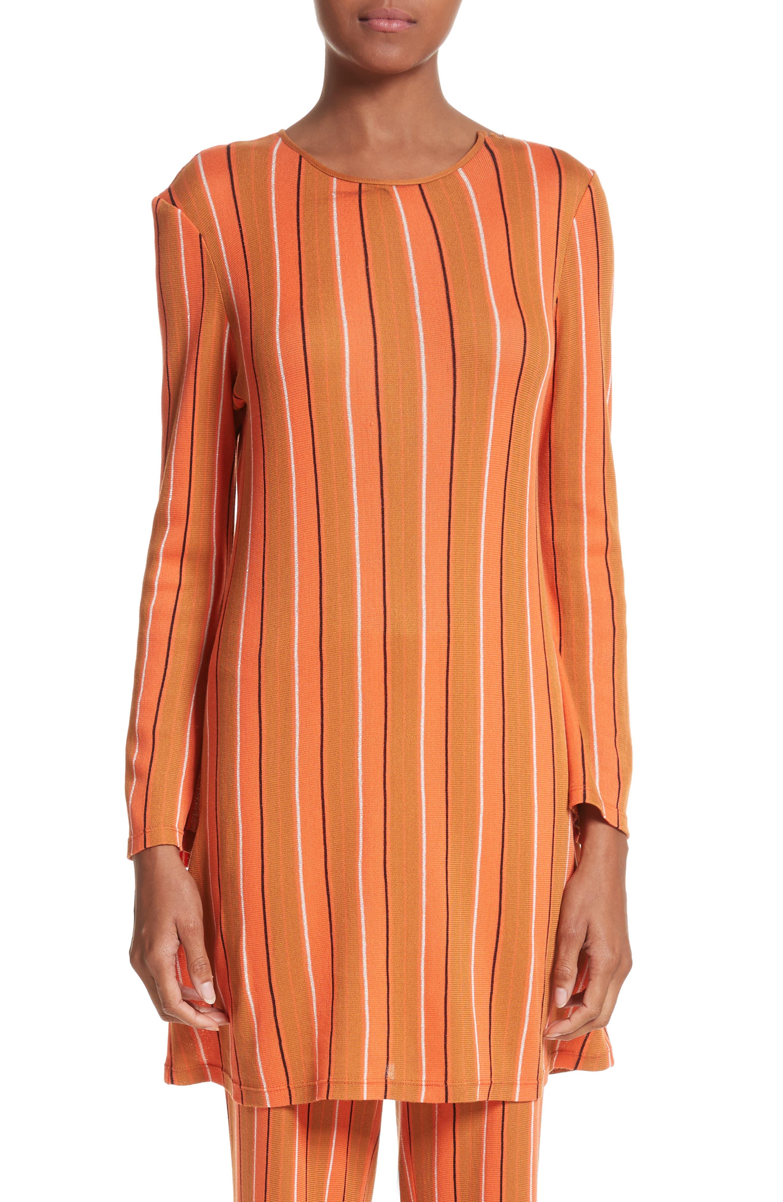 Simon Miller Capo Metallic Stripe Knit Tunic Dress